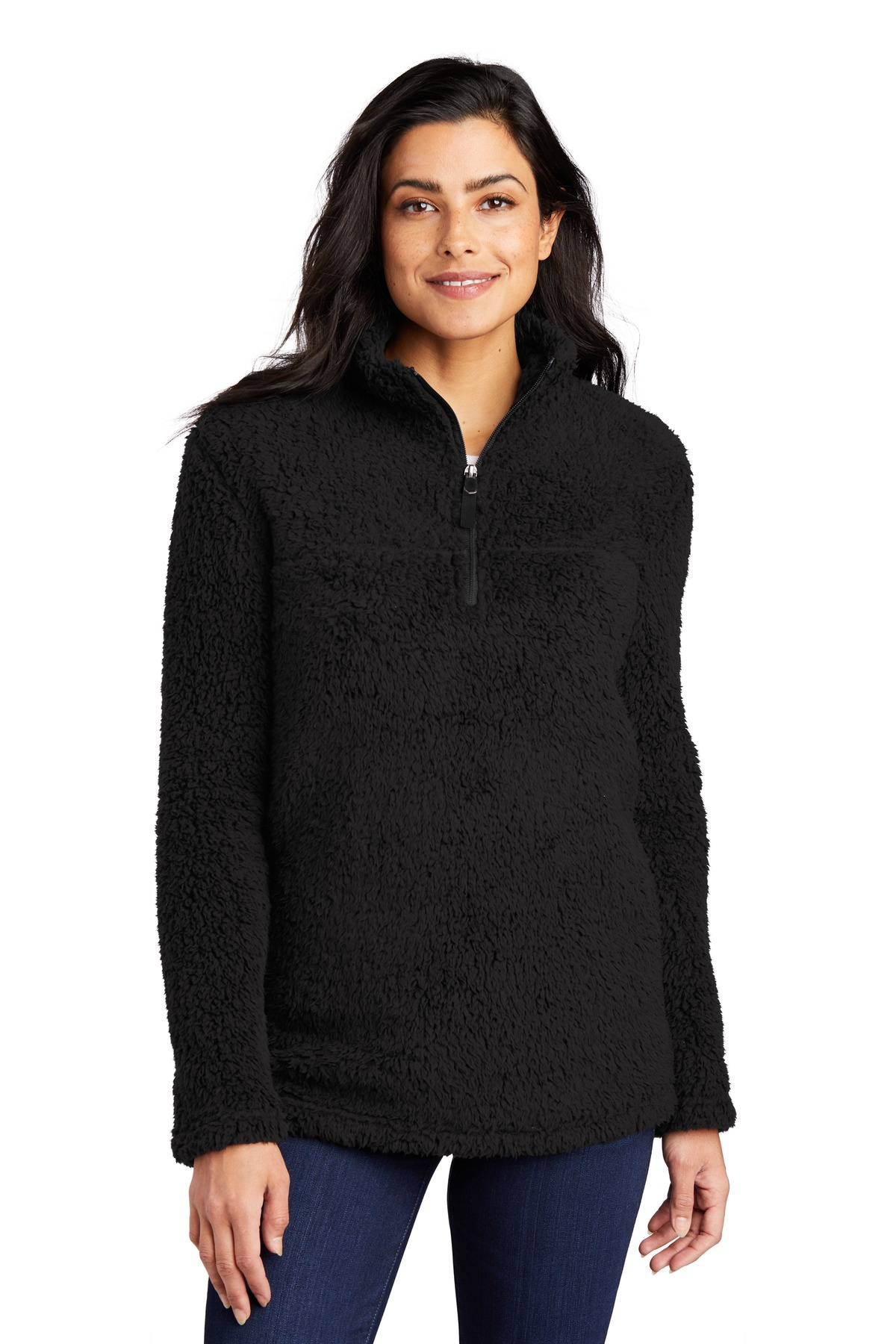 Port Authority  ®   Ladies Cozy 1/4-Zip Fleece L130 - Black