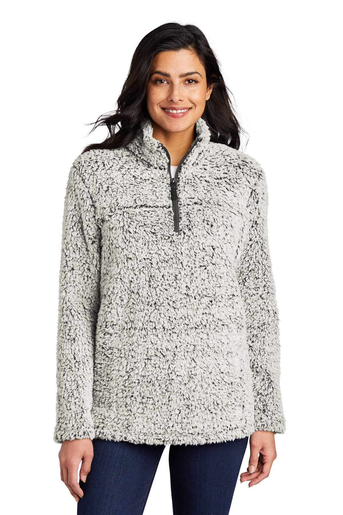 Port Authority  ®   Ladies Cozy 1/4-Zip Fleece L130 - Grey Heather