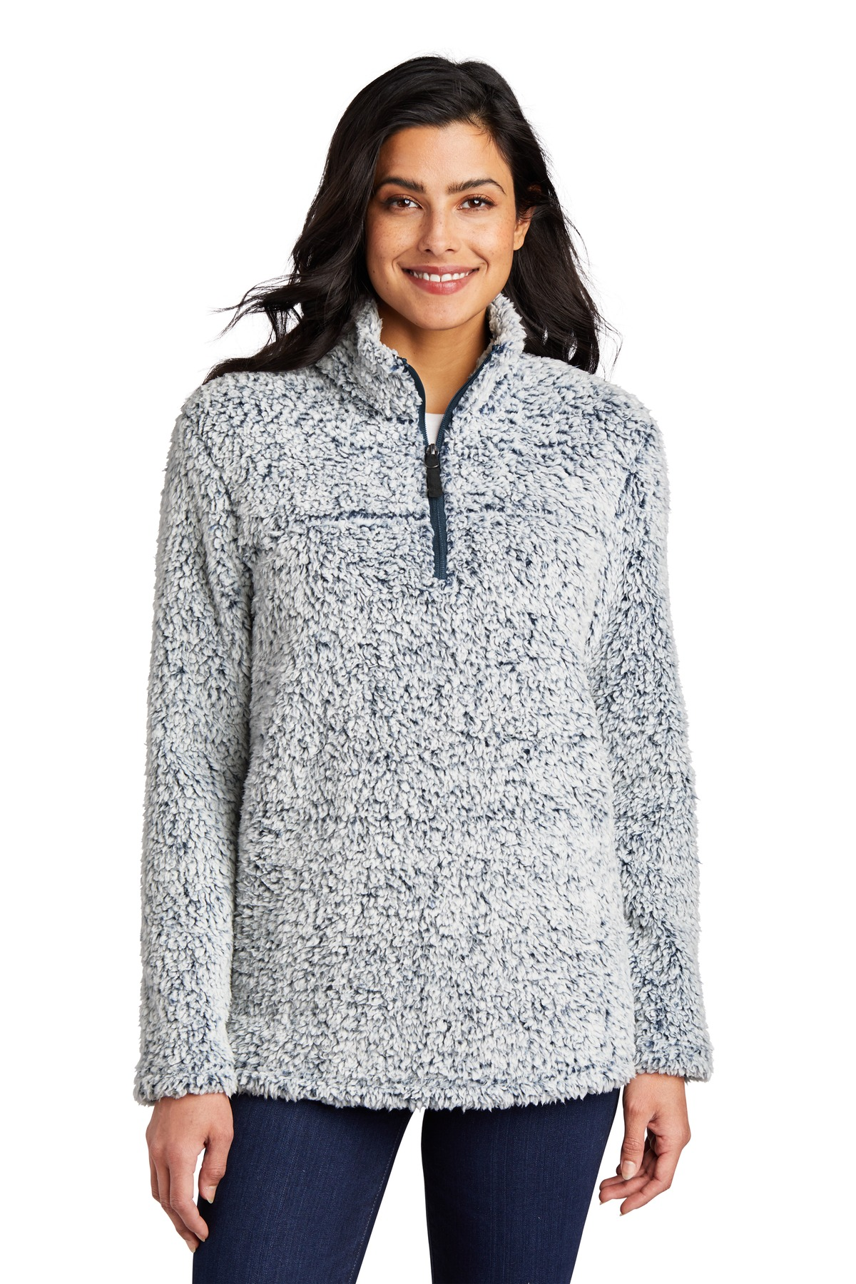 Port Authority  ®   Ladies Cozy 1/4-Zip Fleece L130 - Navy Heather