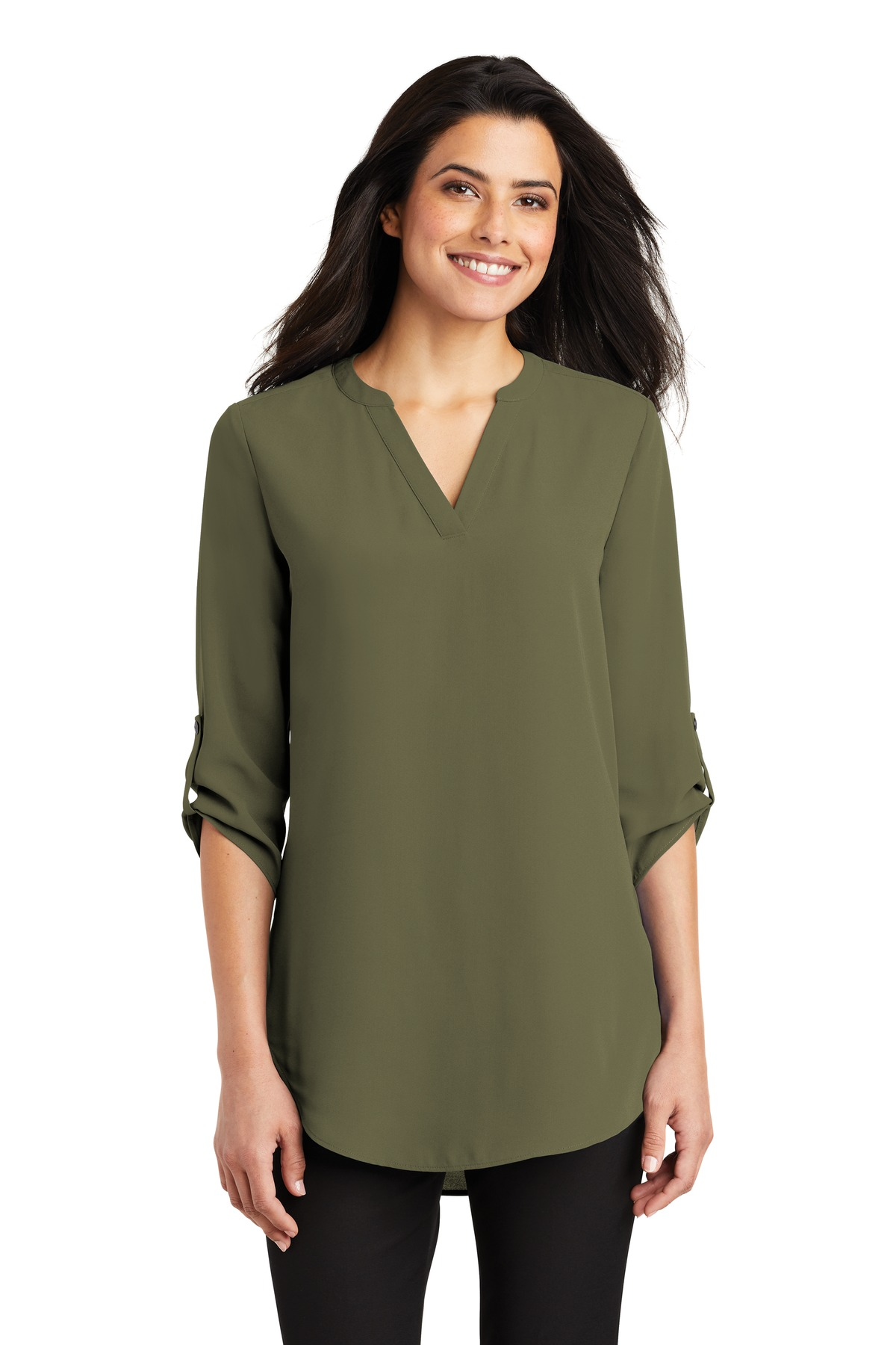Port Authority ®  Ladies 3/4-Sleeve Tunic Blouse. LW701 - Deep Olive