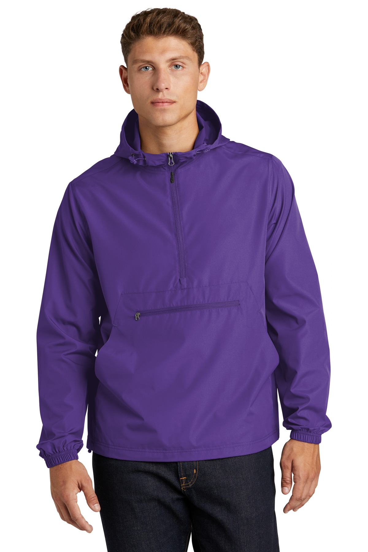 Sport-Tek  ®  Packable Anorak. JST66 - Purple