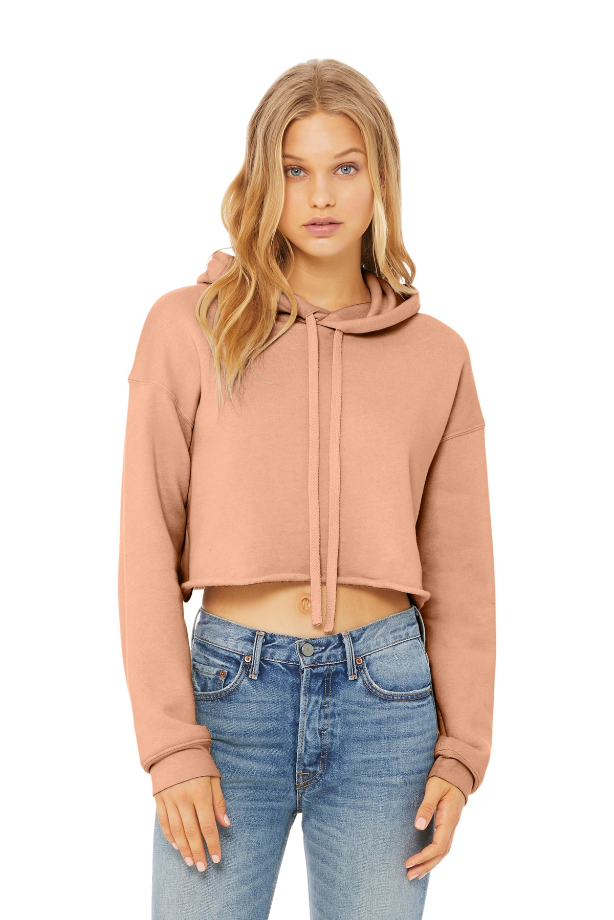 BELLA+CANVAS Women''s Sponge Fleece Cropped Fleece Hoodie. BC7502