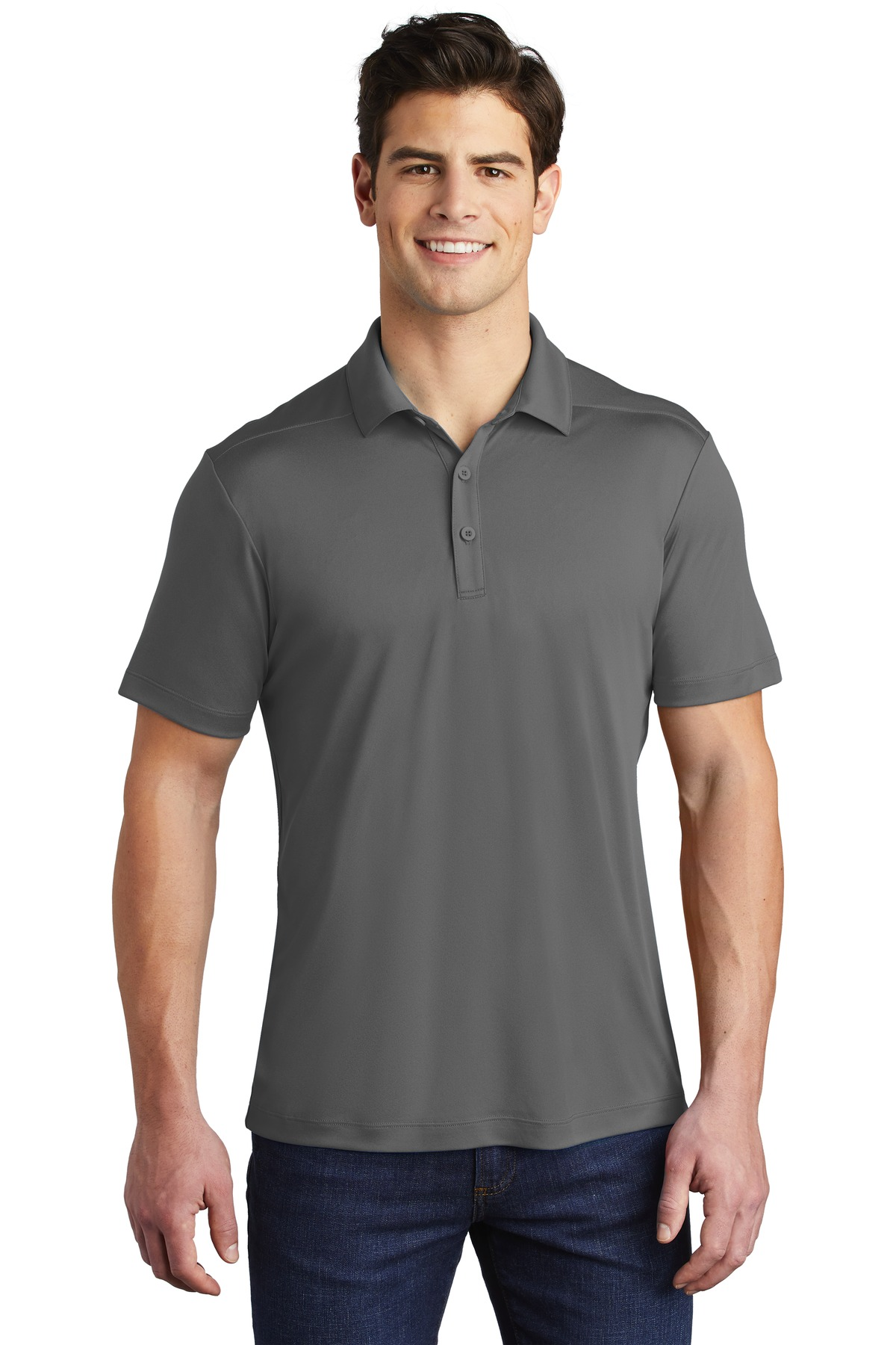 Sport-Tek  ®   Posi-UV ™   Pro Polo. ST520 - Dark Smoke Grey