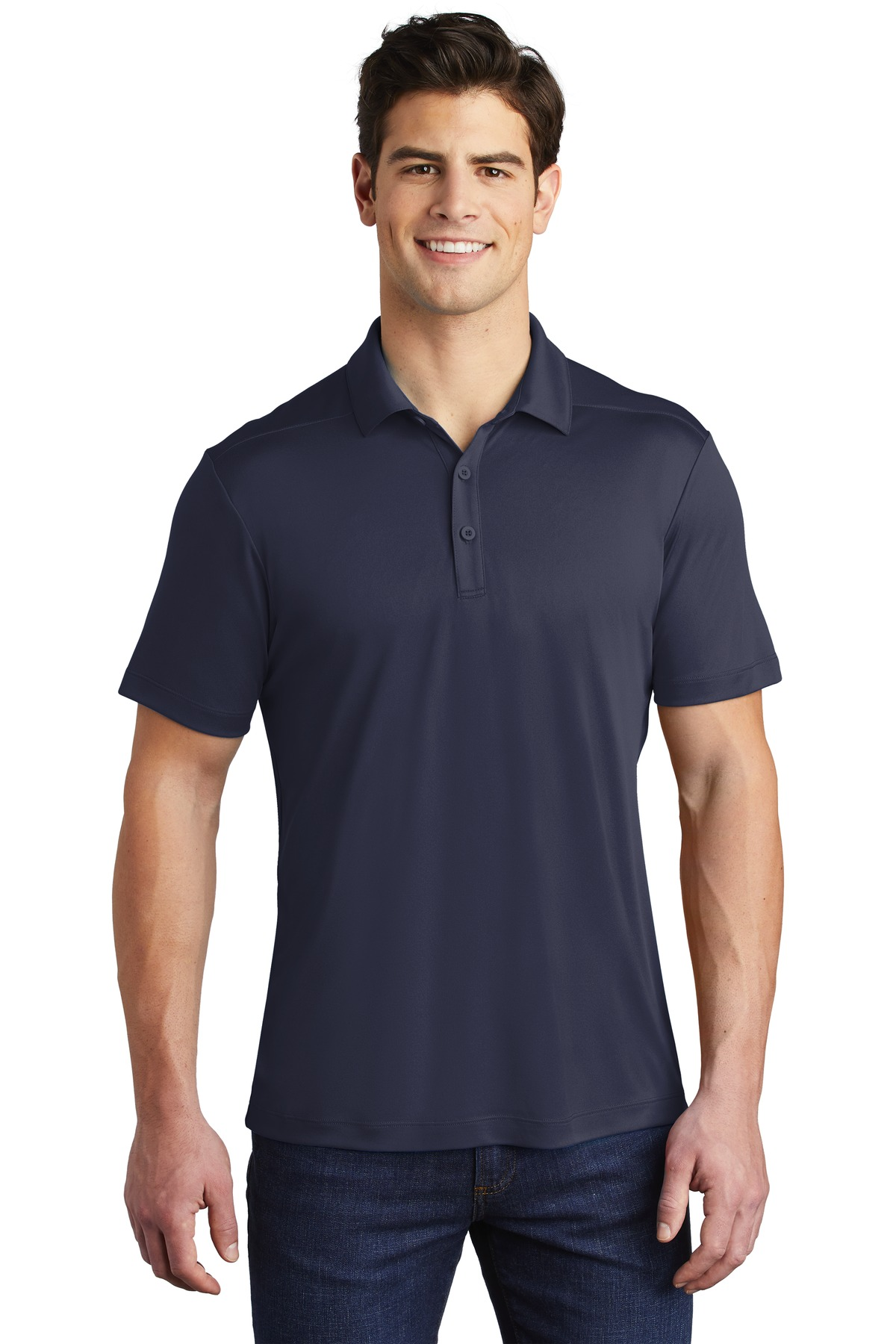 Sport-Tek  ®   Posi-UV ™   Pro Polo. ST520 - True Navy