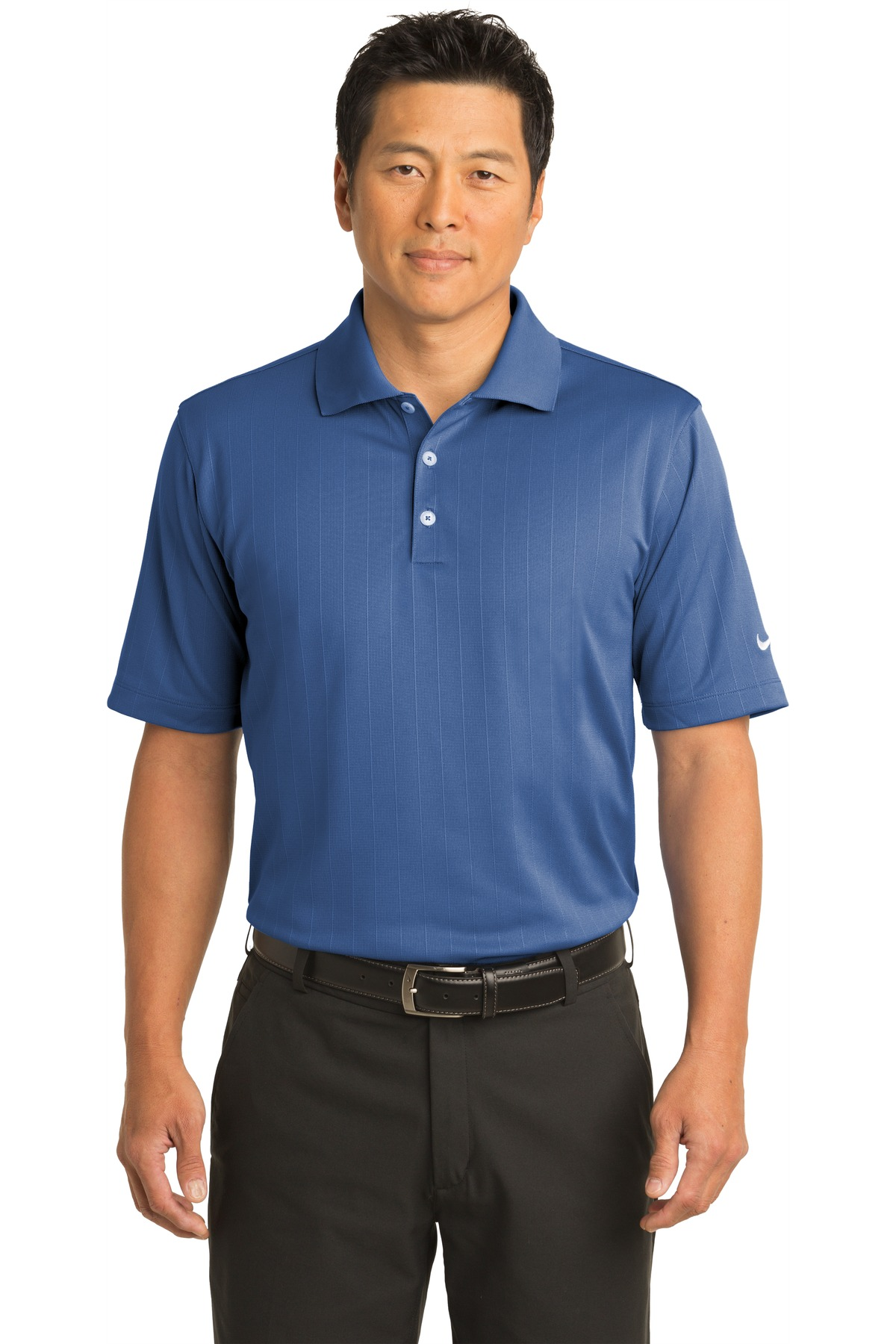 Nike Dri-FIT Textured Polo.  244620 - Mountain Blue