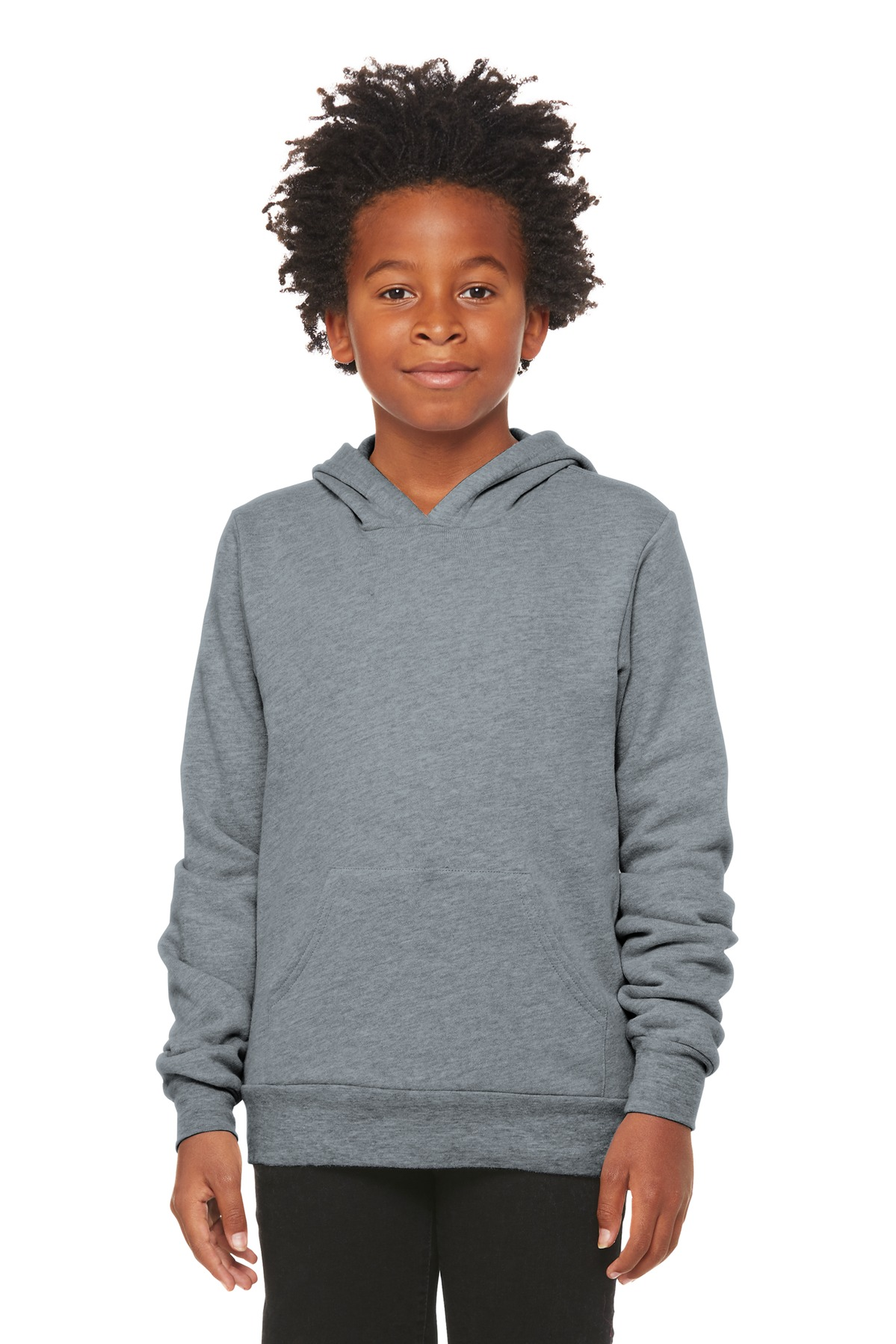 BELLA+CANVAS  ®  Youth Sponge Fleece Pullover Hoodie BC3719Y - Athletic Heather