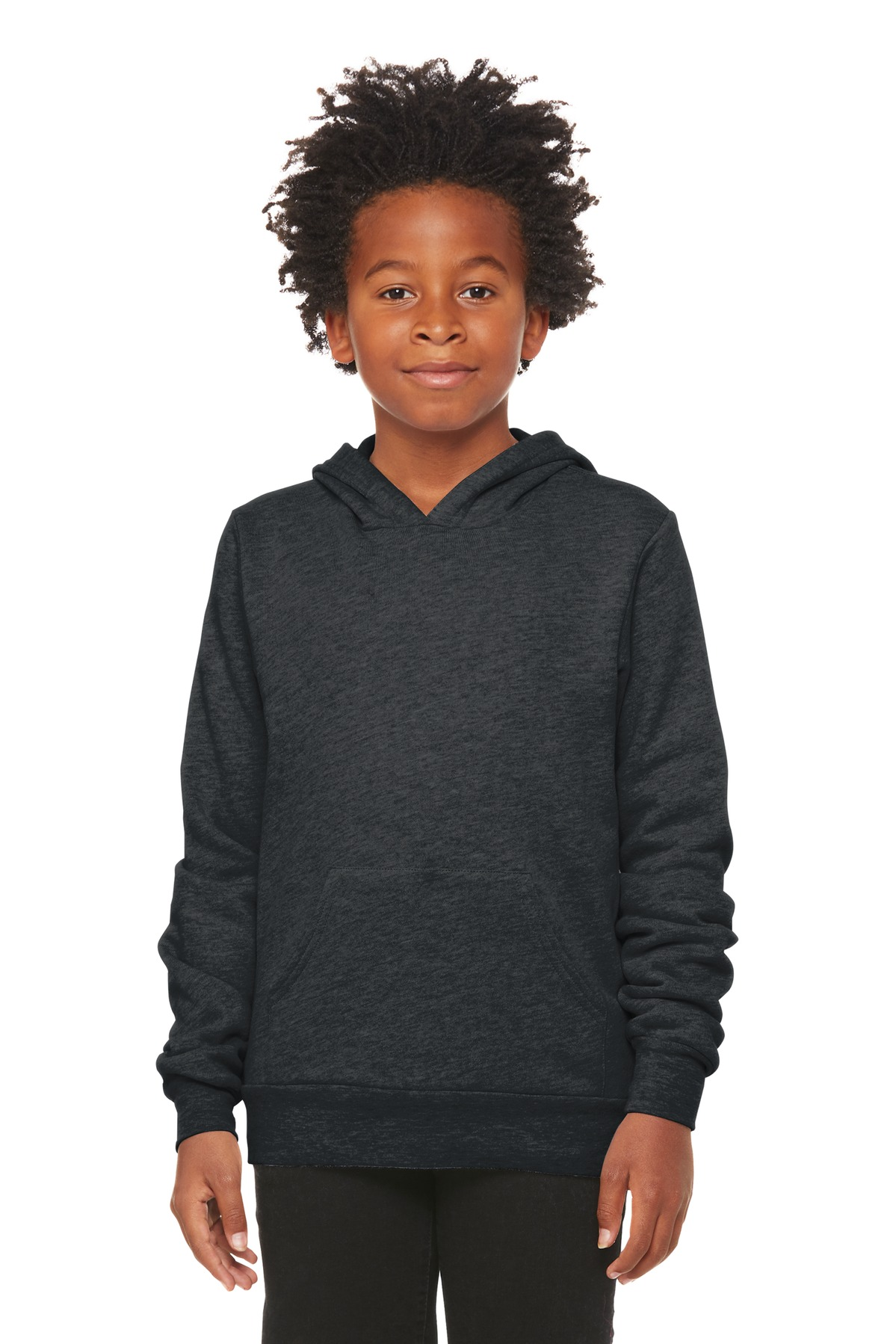 BELLA+CANVAS  ®  Youth Sponge Fleece Pullover Hoodie BC3719Y - Dark Grey Heather