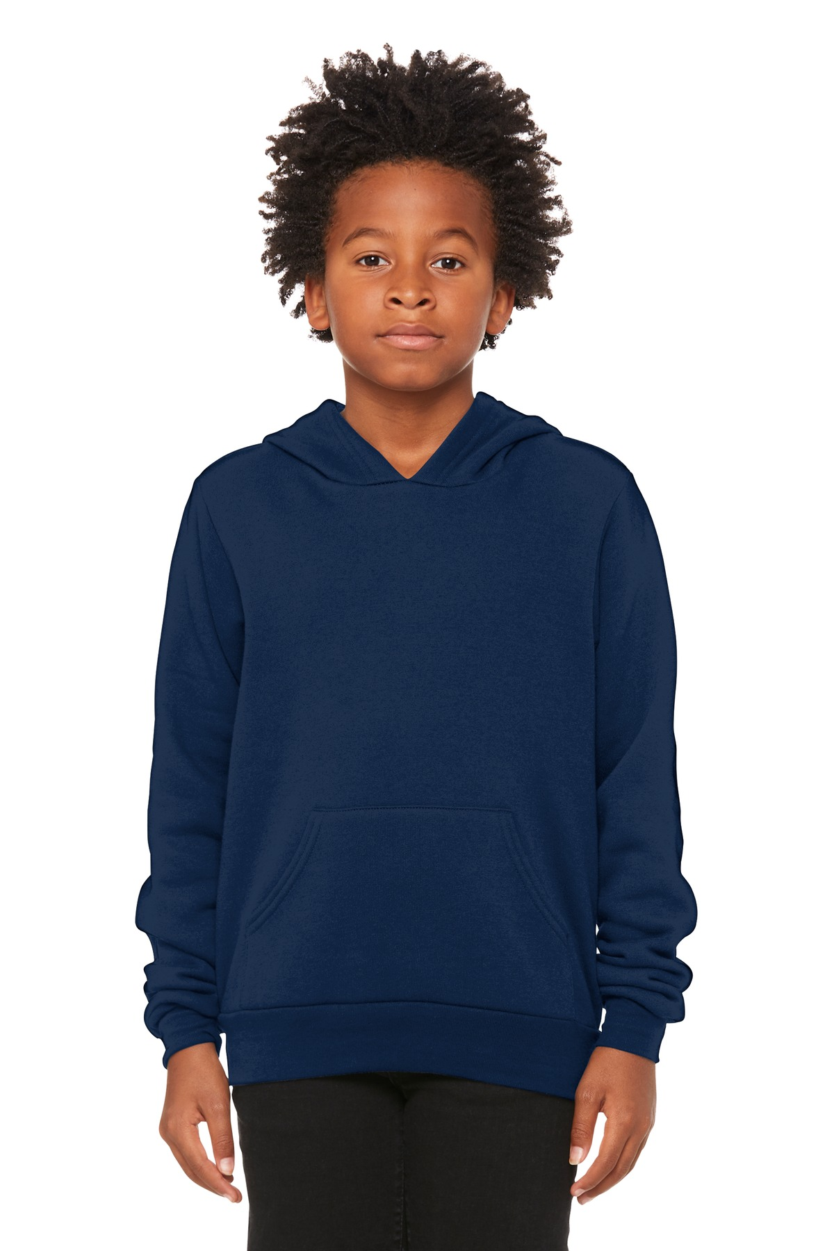 BELLA+CANVAS  ®  Youth Sponge Fleece Pullover Hoodie BC3719Y - Navy