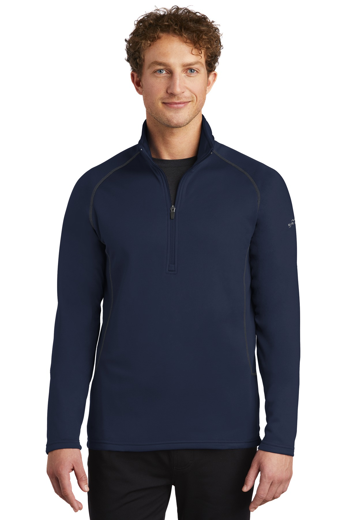 Eddie Bauer ®  Smooth Fleece Base Layer 1/2-Zip. EB236 - River Blue