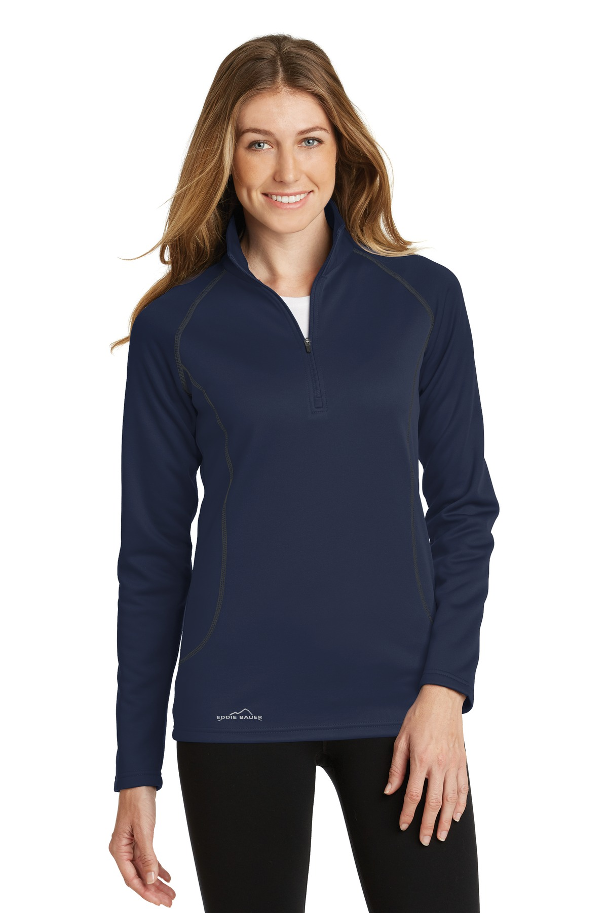 Eddie Bauer ®  Ladies Smooth Fleece Base Layer 1/2-Zip. EB237 - River Blue