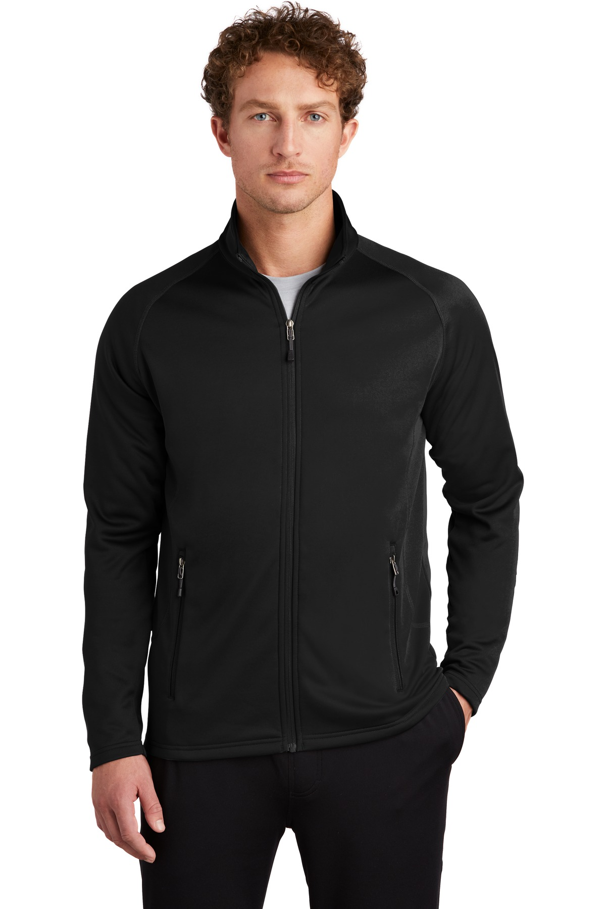 Eddie Bauer  ®  Smooth Fleece Base Layer Full-Zip. EB246 - Black