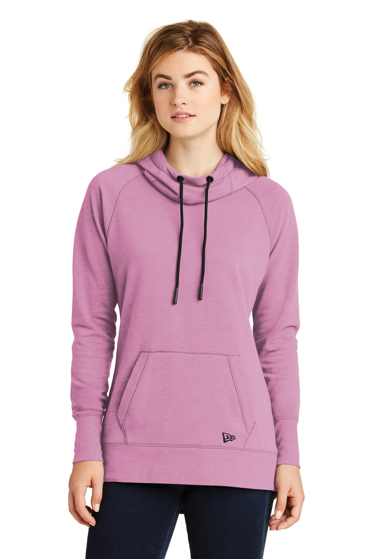 New Era  ®  Ladies Tri-Blend Fleece Pullover Hoodie. LNEA510 - Lilac Heather