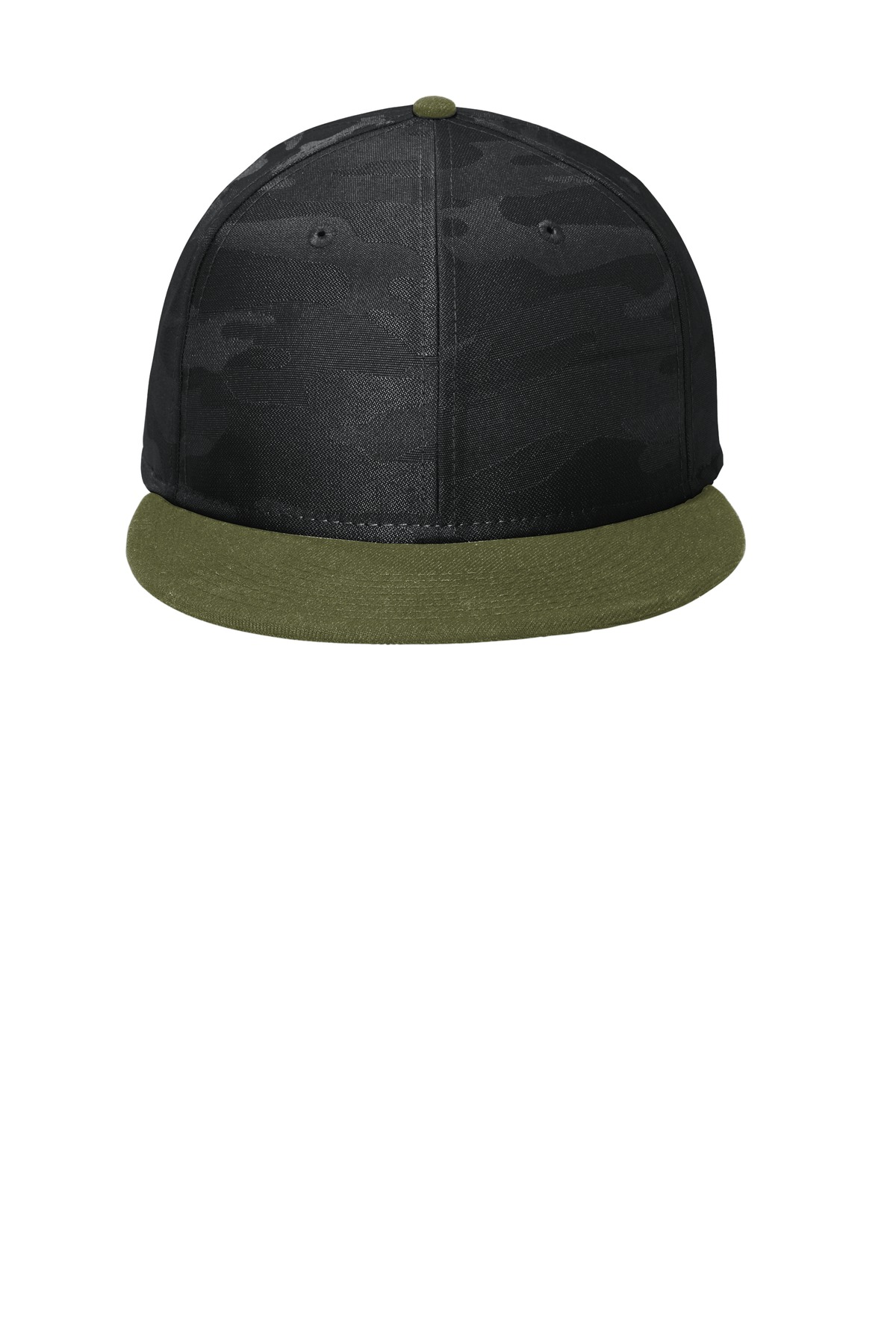 New Era Camo Flat Bill Snapback Cap NE407