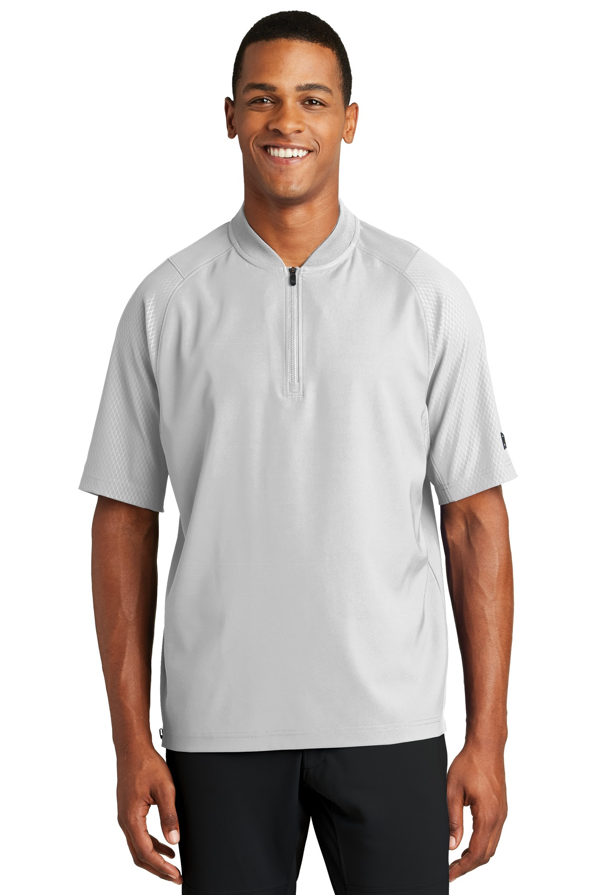New Era  ®  Cage Short Sleeve 1/4-Zip Jacket. NEA600 - White