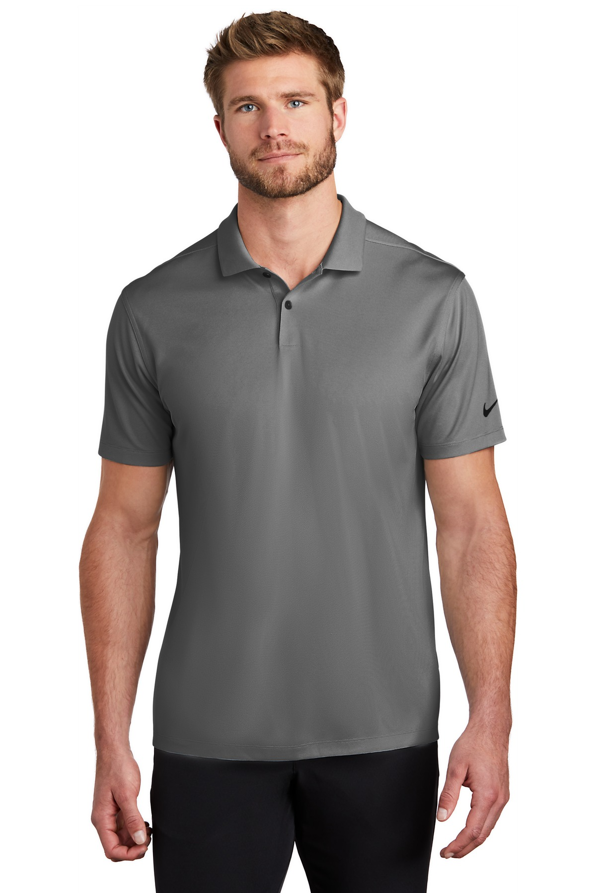 Nike Dry Victory Textured Polo NKBV6041 - Black Heather