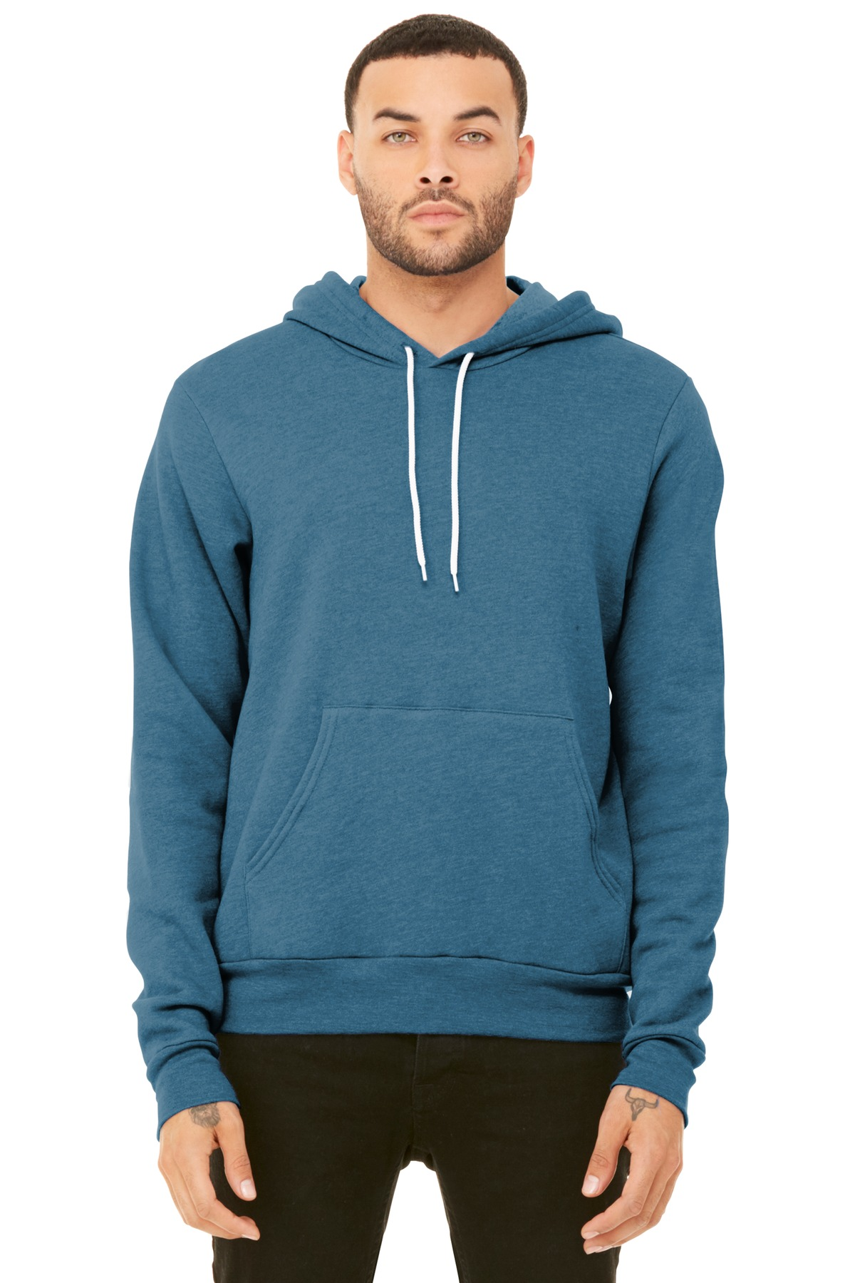BELLA+CANVAS  ®  Unisex Sponge Fleece Pullover Hoodie. BC3719 - Heather Deep Teal