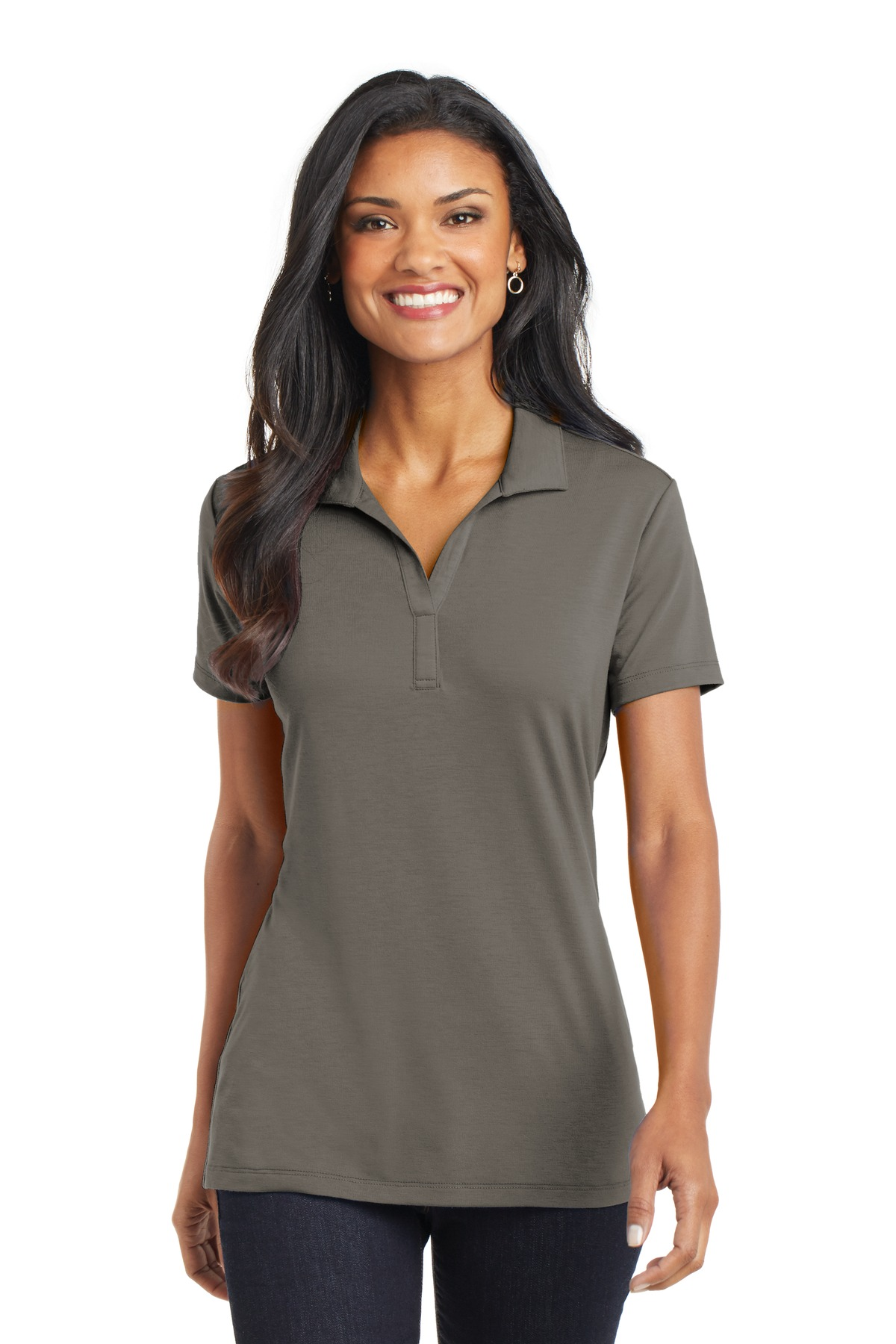Port Authority ®  Ladies Cotton Touch ™  Performance Polo. L568 - Grey Smoke