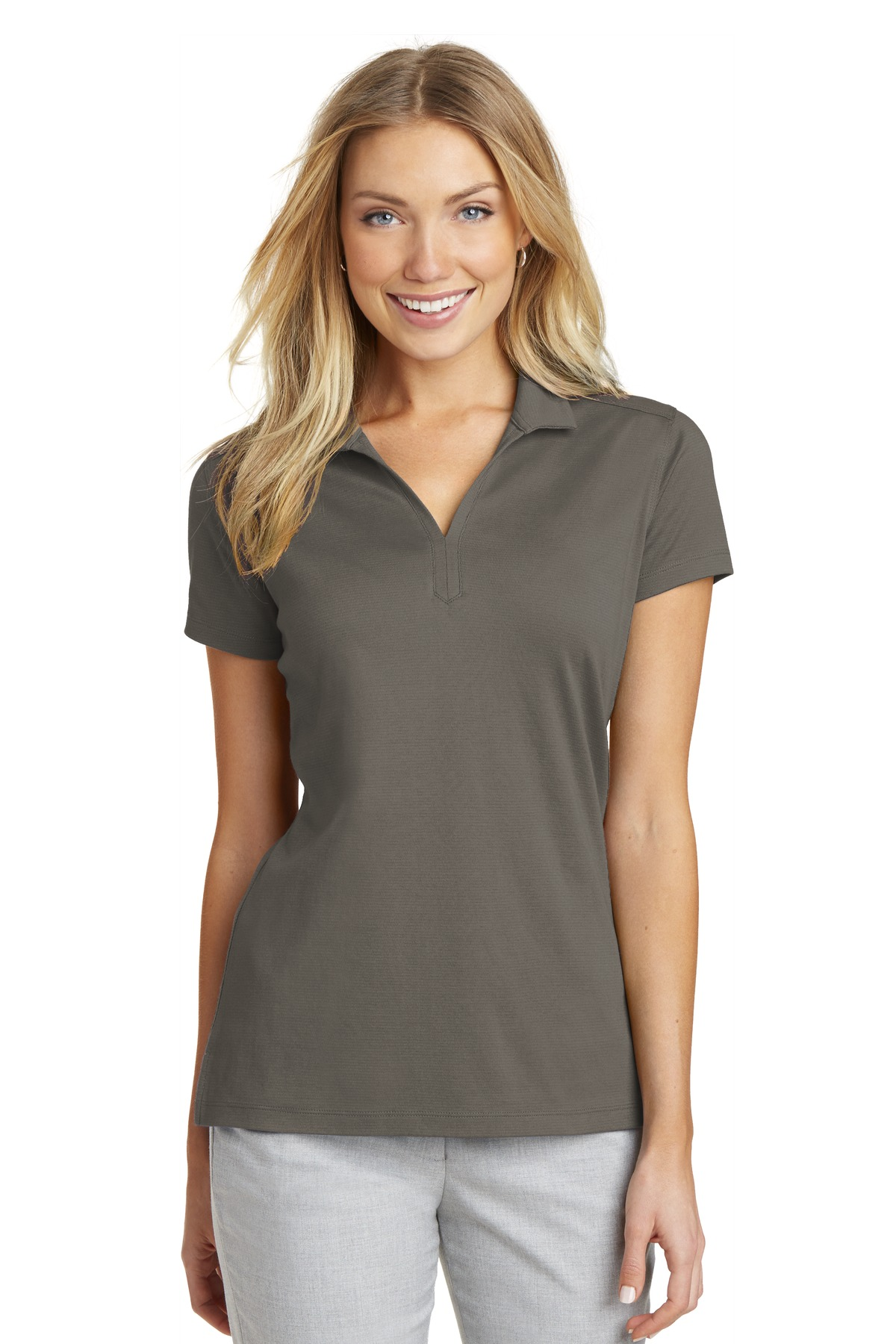 Port Authority ®  Ladies Rapid Dry ™  Mesh Polo. L573 - Grey Smoke