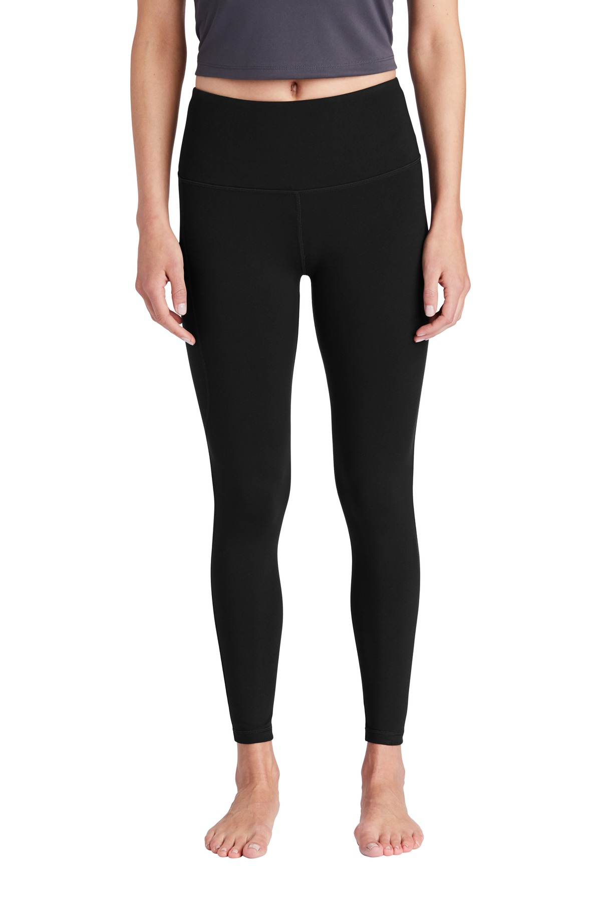 Sport-Tek  ®  Ladies High Rise 7/8 Legging LPST891 - Black