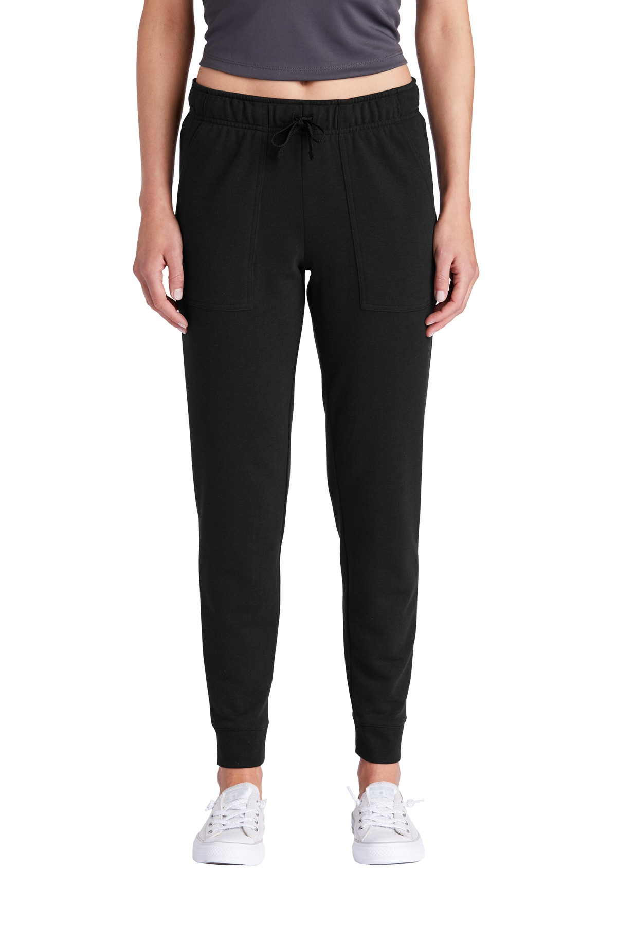 Sport-Tek  ®  Ladies PosiCharge  ®  Tri-Blend Wicking Fleece Jogger LST299 - Black Triad Solid