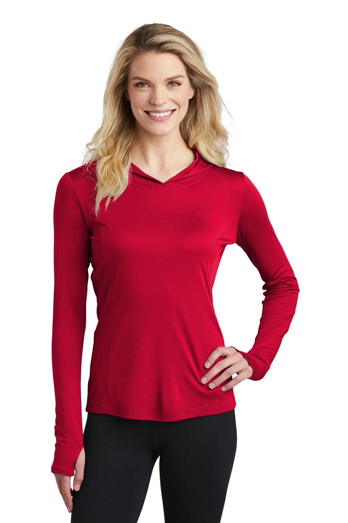 Sport-Tek  ®  Ladies PosiCharge  ®  Competitor  ™  Hooded Pullover. LST358 - True Red