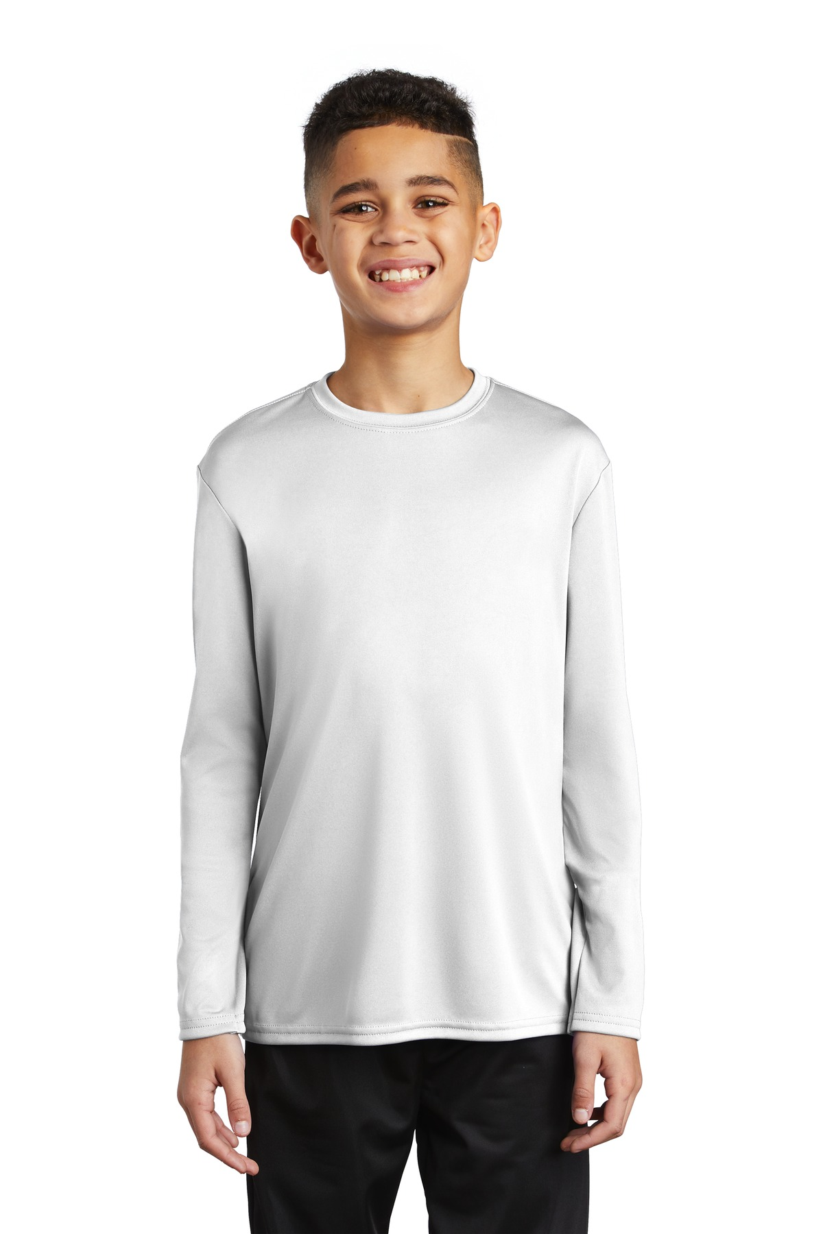 Port & Company  ®  Youth Long Sleeve Performance Tee PC380YLS - White