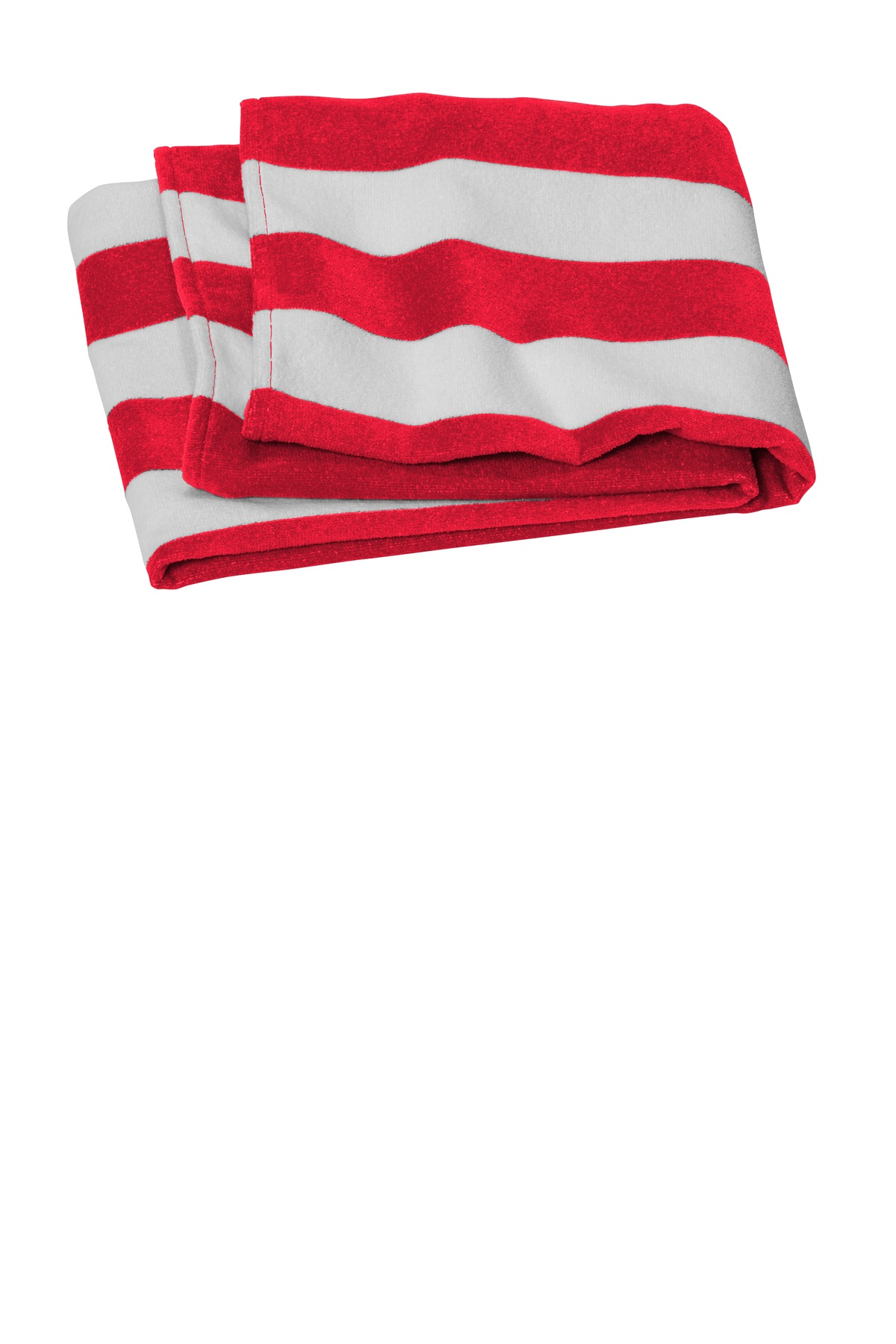 Port Authority  ®  Value Cabana Stripe Beach Towel PT45 - Red
