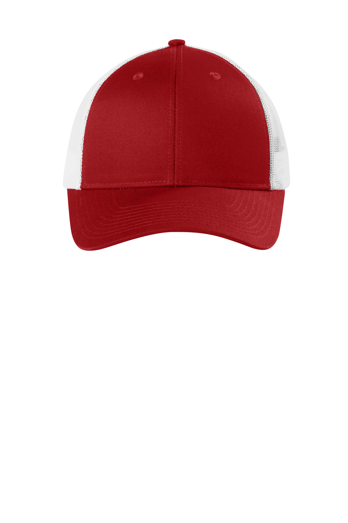 Port Authority  ®  Low-Profile Snapback Trucker Cap. C112LP - Flame Red/ White