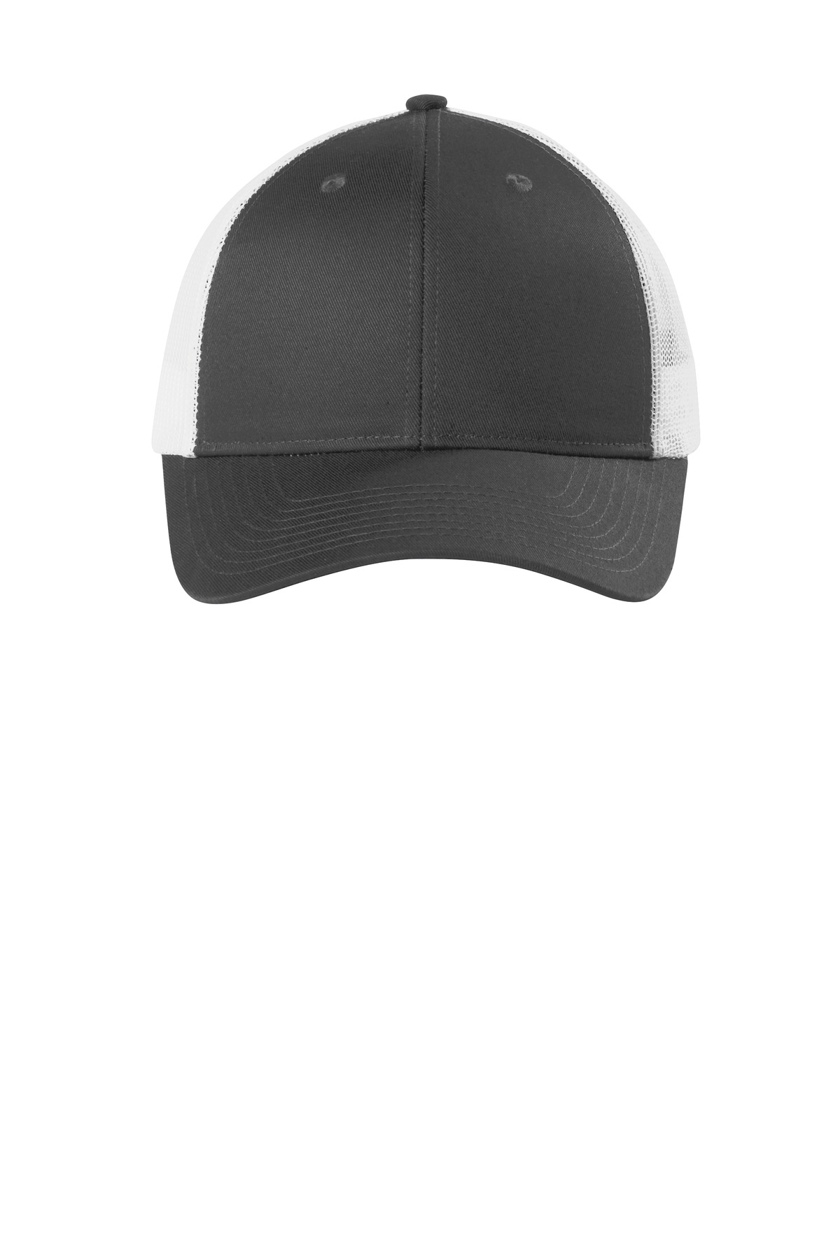 Port Authority  ®  Low-Profile Snapback Trucker Cap. C112LP - Grey Steel/ White