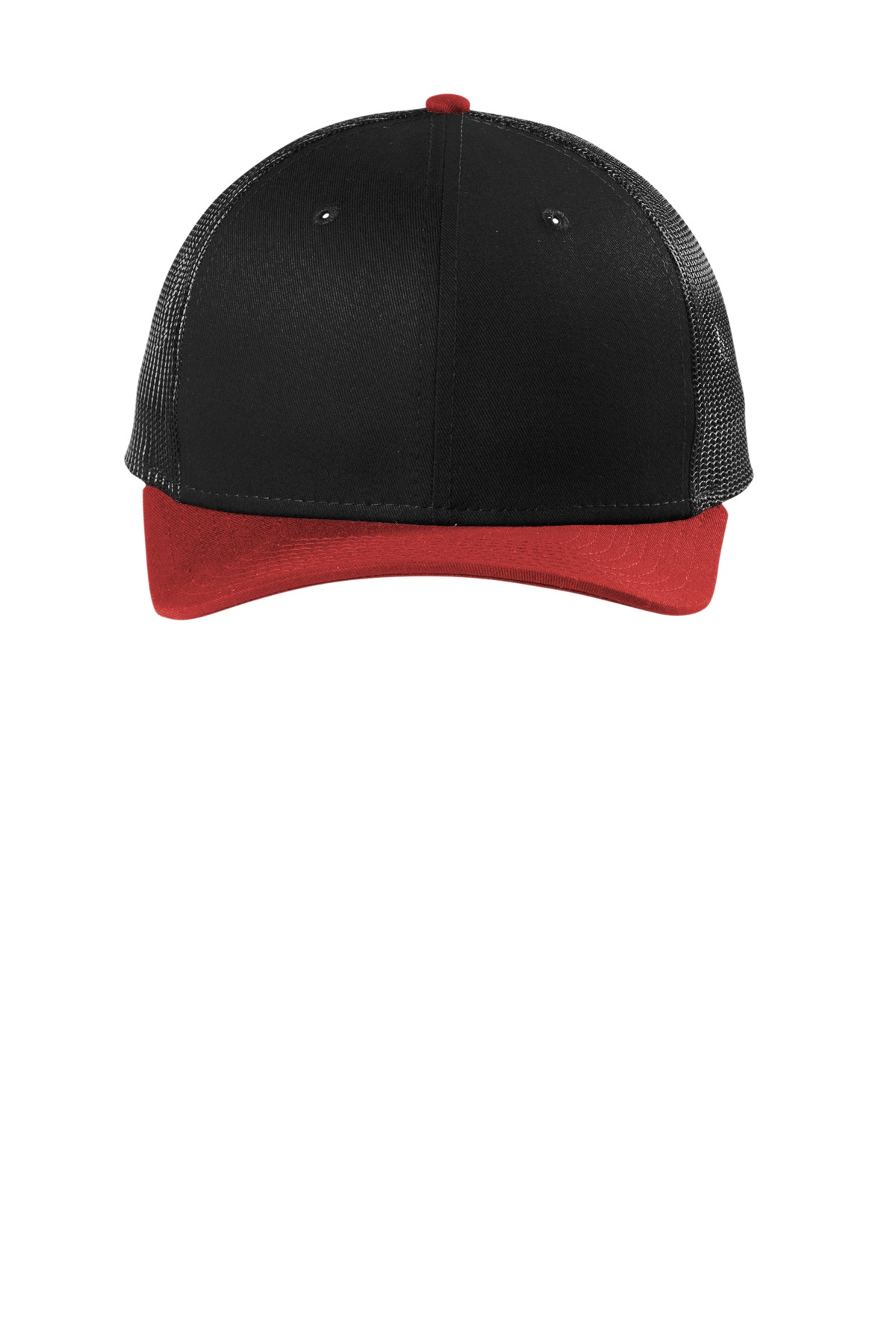 New Era  ®   Snapback Low Profile Trucker Cap   NE207 - Black/ Scarlet