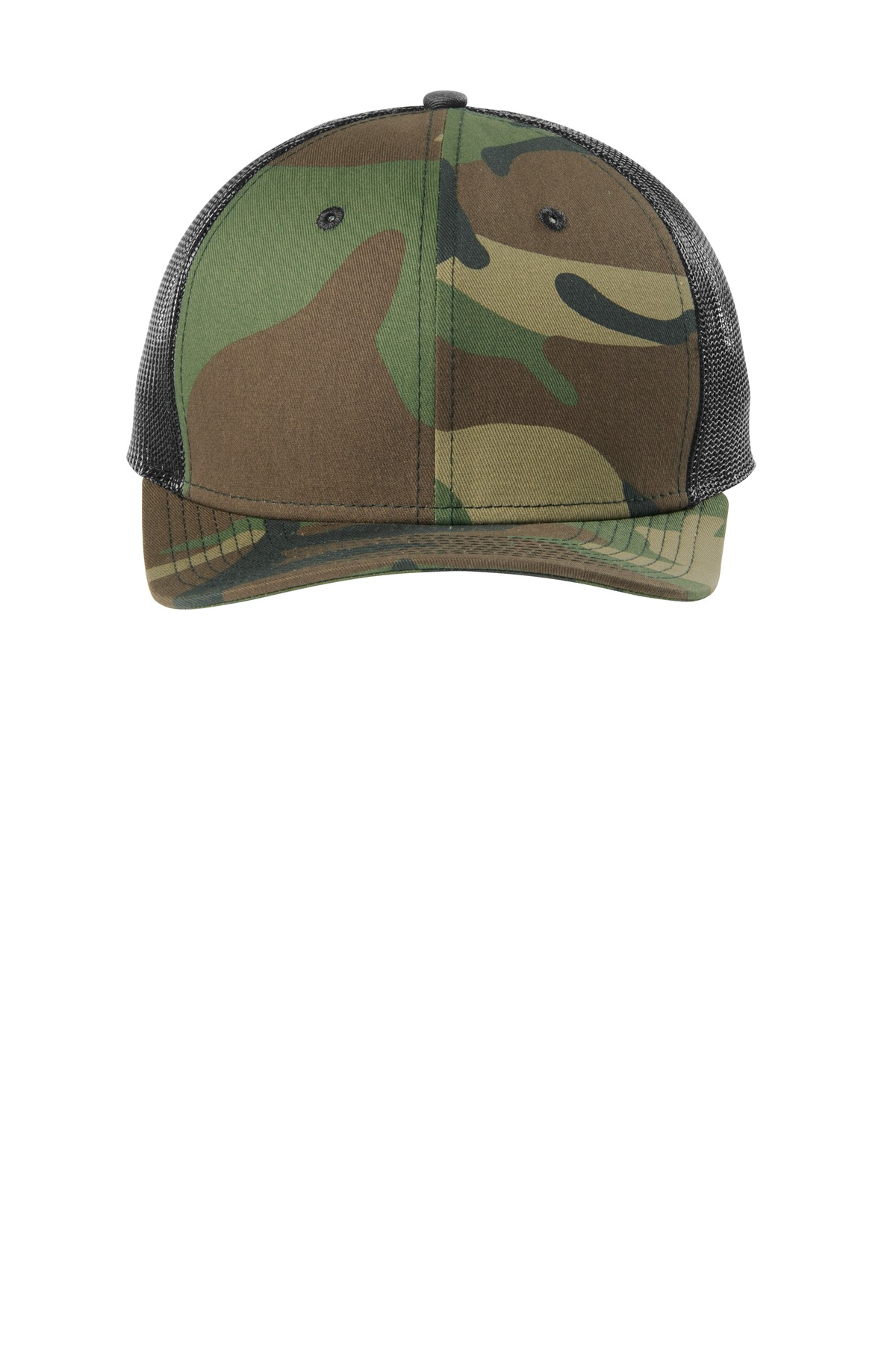New Era  ®   Snapback Low Profile Trucker Cap   NE207 - Camo/ Black