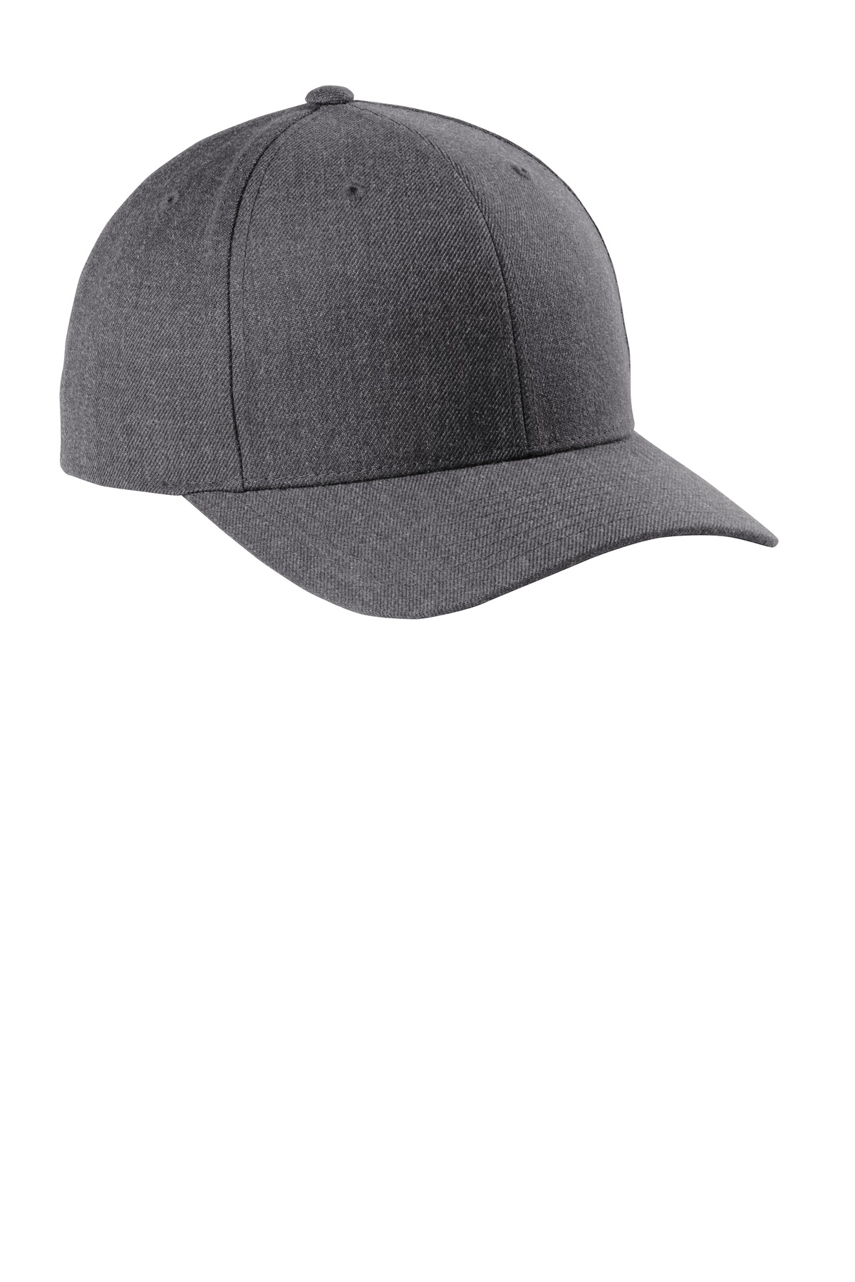 Sport-Tek  ®  Yupoong  ®  Curve Bill Snapback Cap. STC43 - Dark Heather Grey