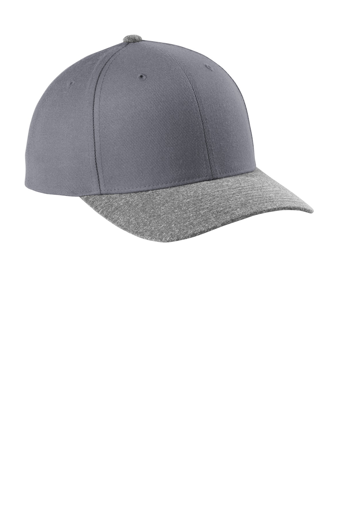 Sport-Tek  ®  Yupoong  ®  Curve Bill Snapback Cap. STC43 - Graphite/ Grey Heather