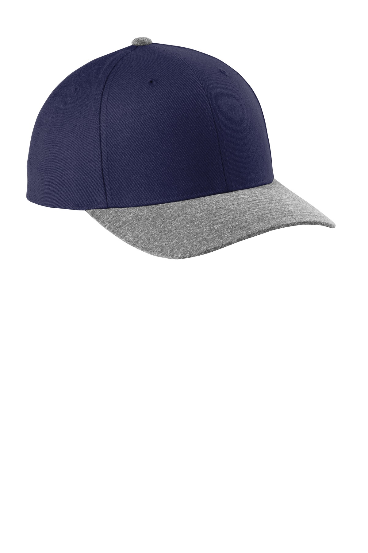 Sport-Tek  ®  Yupoong  ®  Curve Bill Snapback Cap. STC43 - True Navy/ Grey Heather