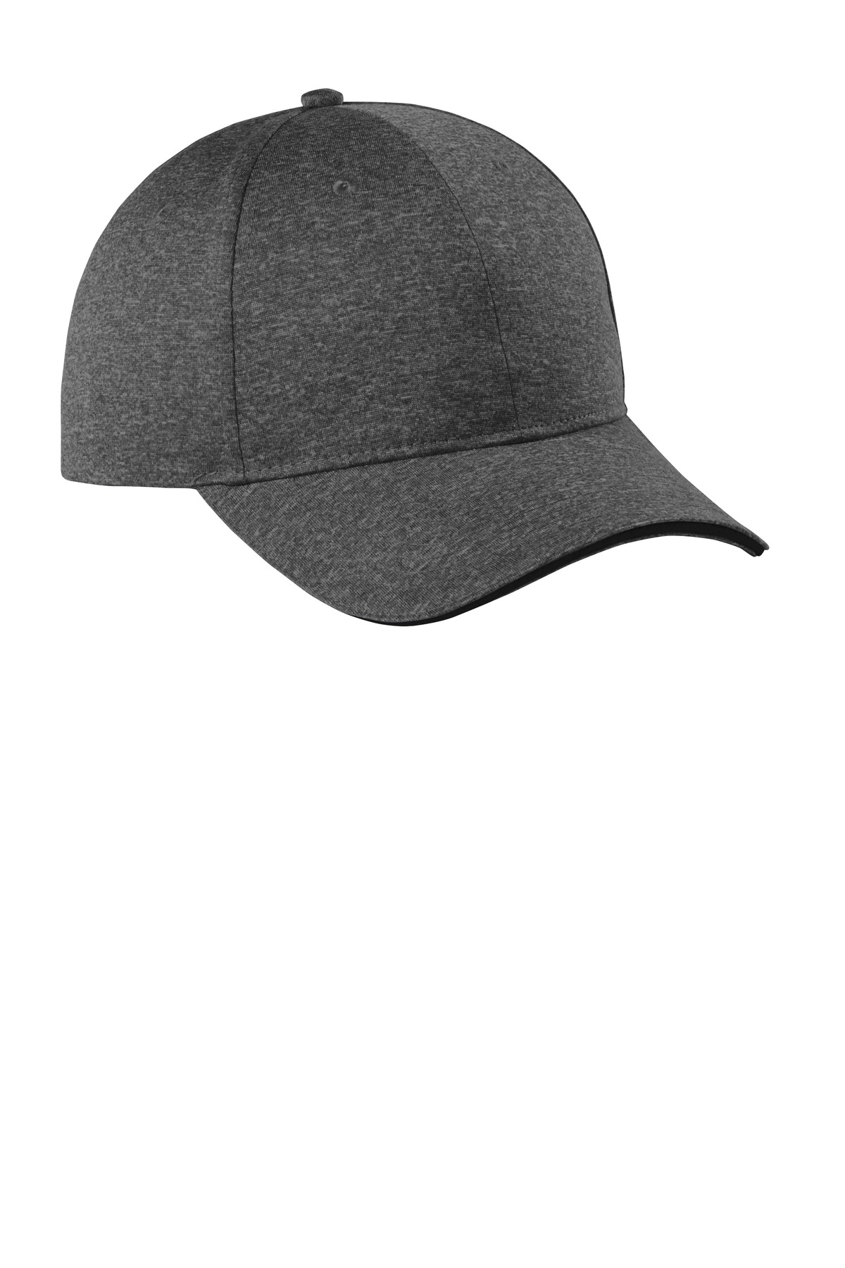 Sport-Tek  ®  Contender  ™  Snapback Cap. STC44 - Graphite Heather/ Black