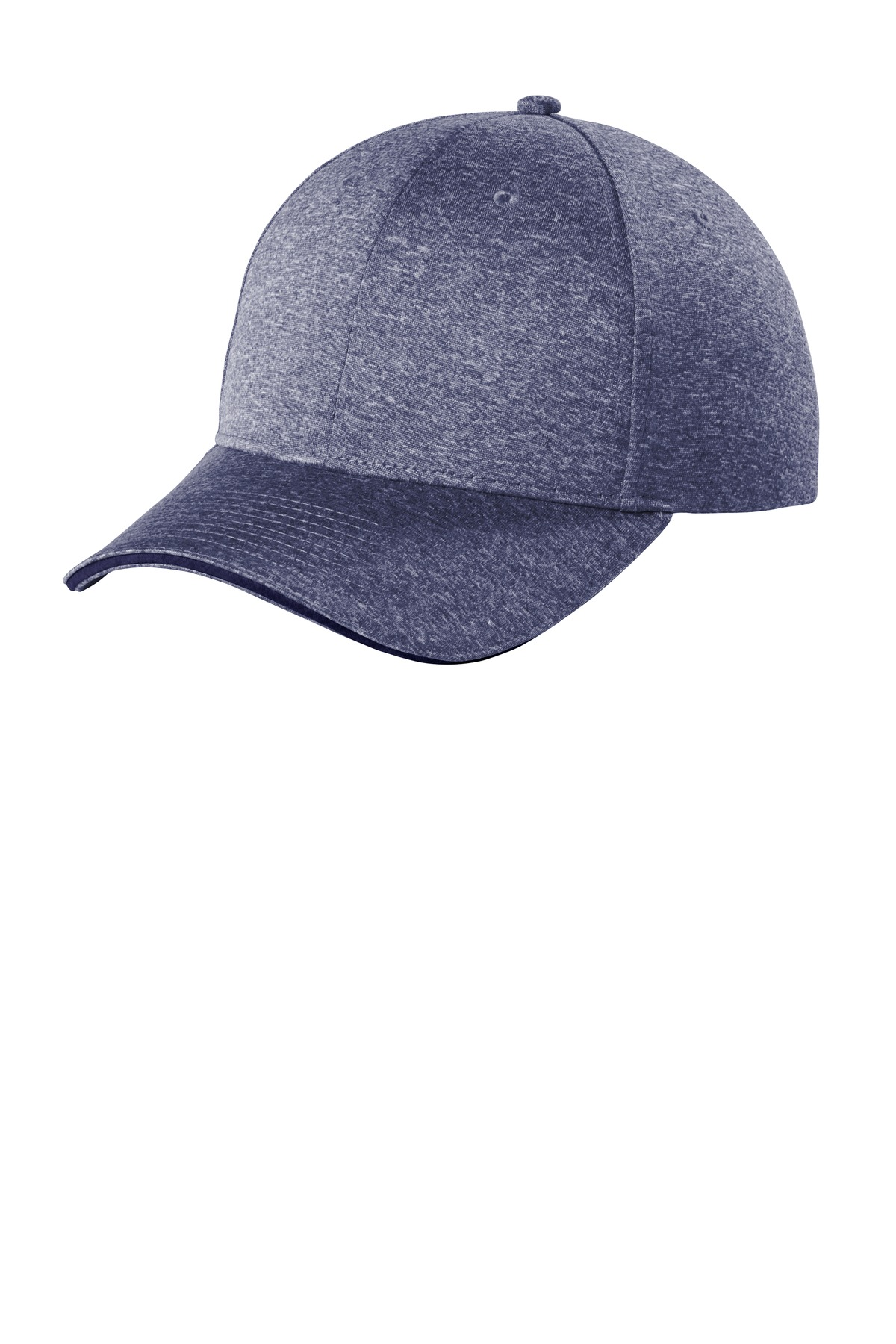 Sport-Tek  ®  Contender  ™  Snapback Cap. STC44 - True Navy Heather/ True Navy