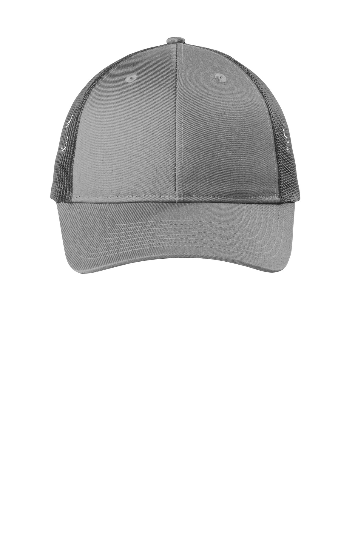 Port Authority  ®  Low-Profile Snapback Trucker Cap. C112LP - Heather Grey/ Grey Steel
