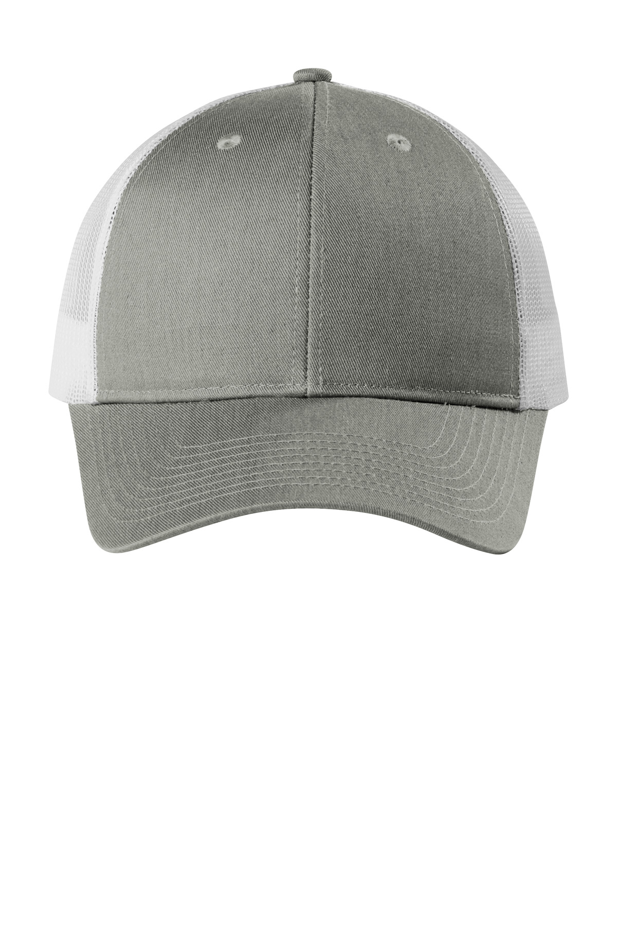 Port Authority  ®  Low-Profile Snapback Trucker Cap. C112LP - Heather Grey/ White