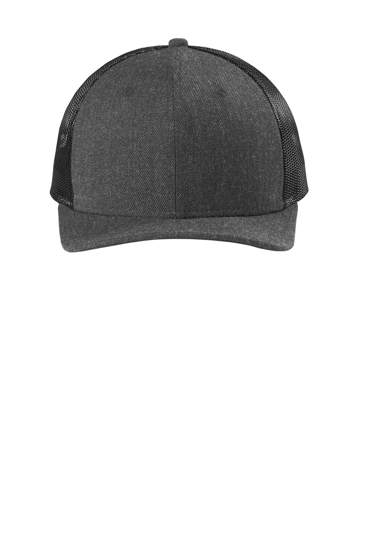 New Era  ®   Snapback Low Profile Trucker Cap   NE207 - Heather Graphite/ Black