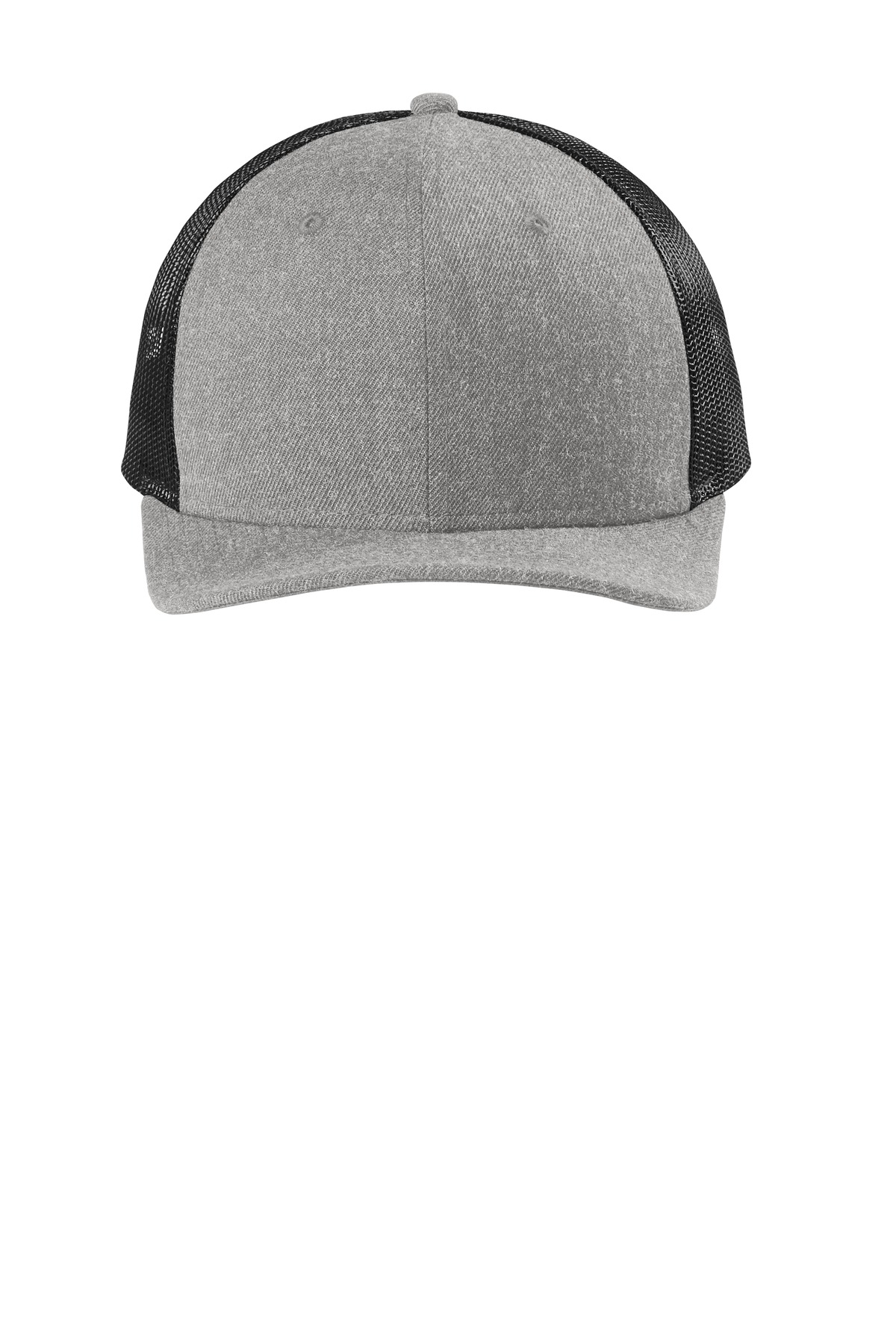 New Era  ®   Snapback Low Profile Trucker Cap   NE207 - Heather Grey/ Black