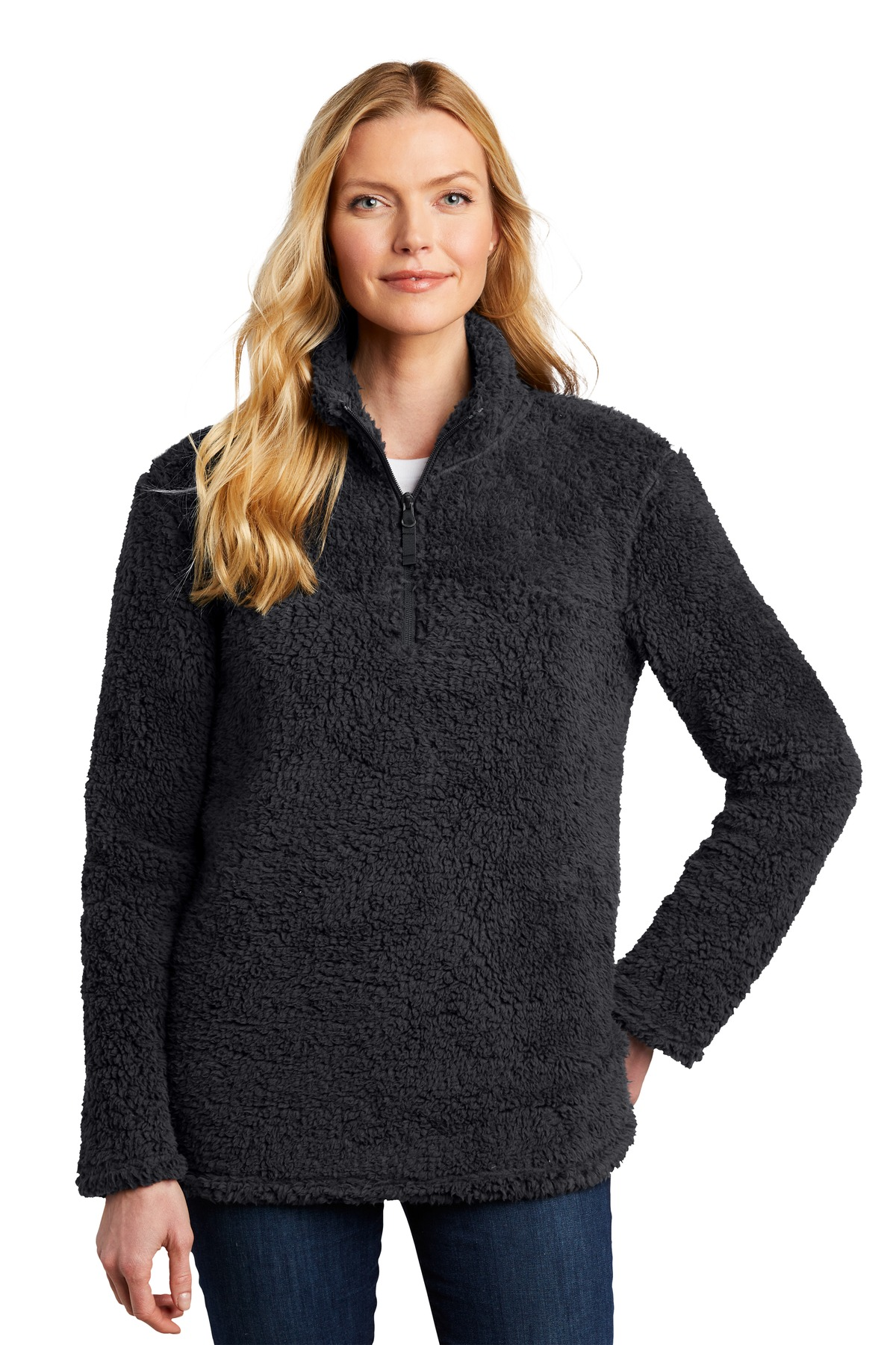 Port Authority  ®   Ladies Cozy 1/4-Zip Fleece L130 - Charcoal