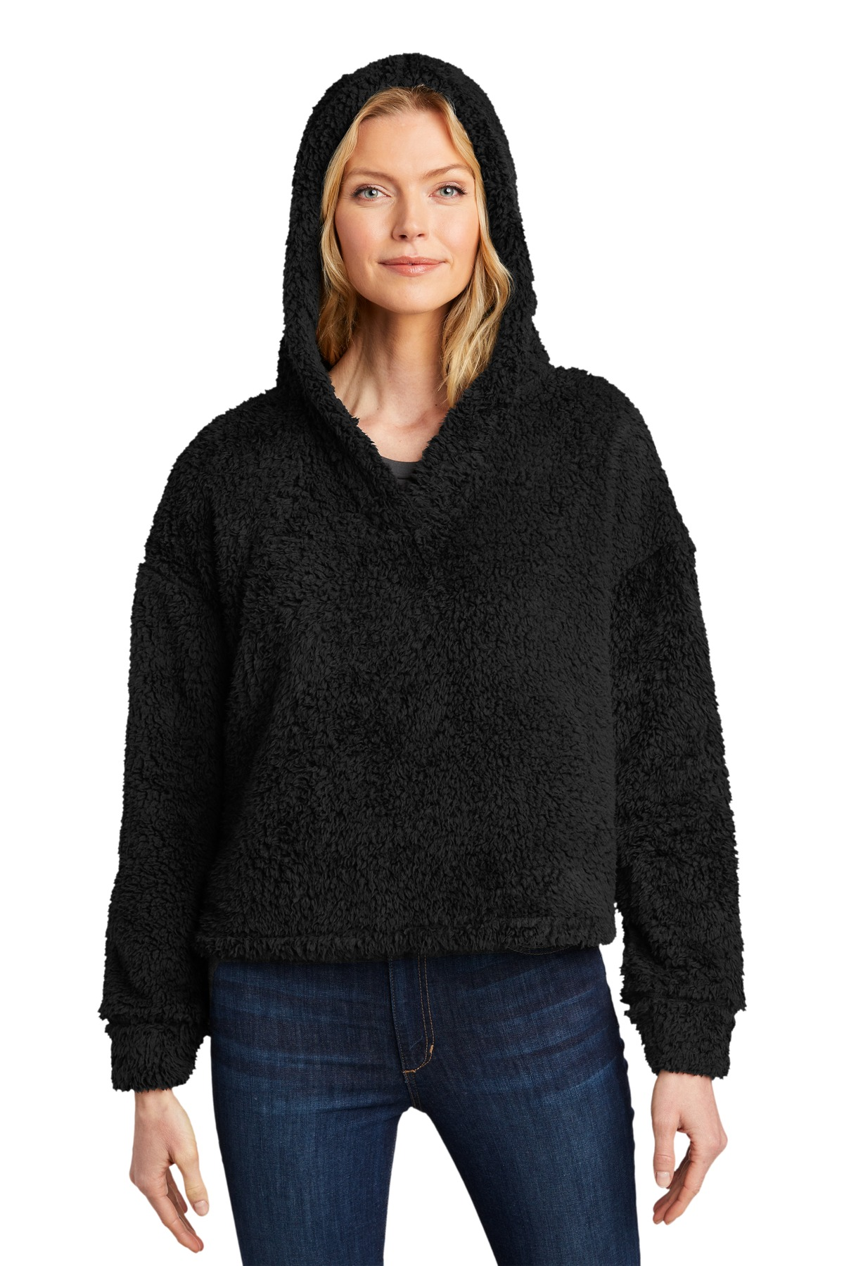 Port Authority  ®  Ladies Cozy Fleece Hoodie. L132 - Black