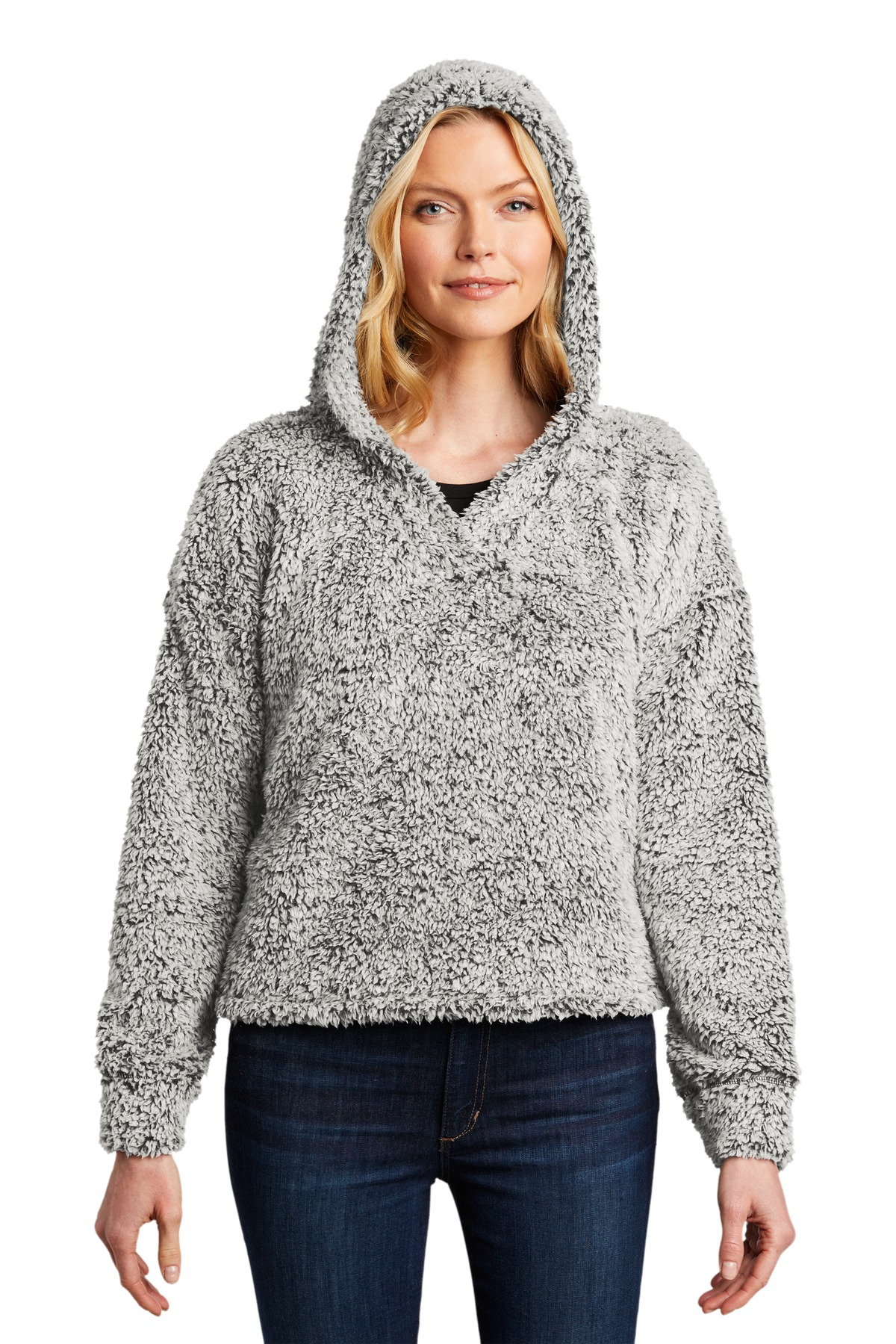 Port Authority  ®  Ladies Cozy Fleece Hoodie. L132 - Grey Heather