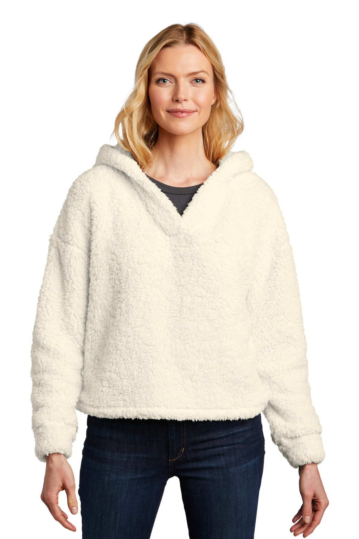 Port Authority  ®  Ladies Cozy Fleece Hoodie. L132 - Marshmallow