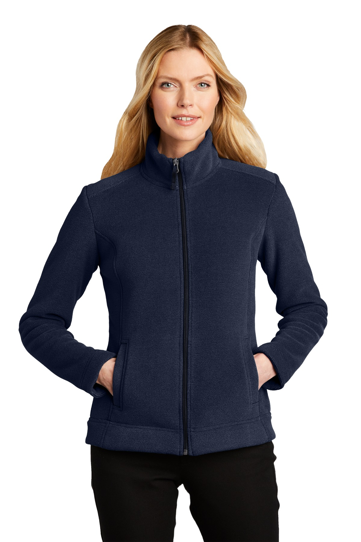 Port Authority  ®  Ladies Ultra Warm Brushed Fleece Jacket. L211 - Insignia Blue/ River Blue Navy