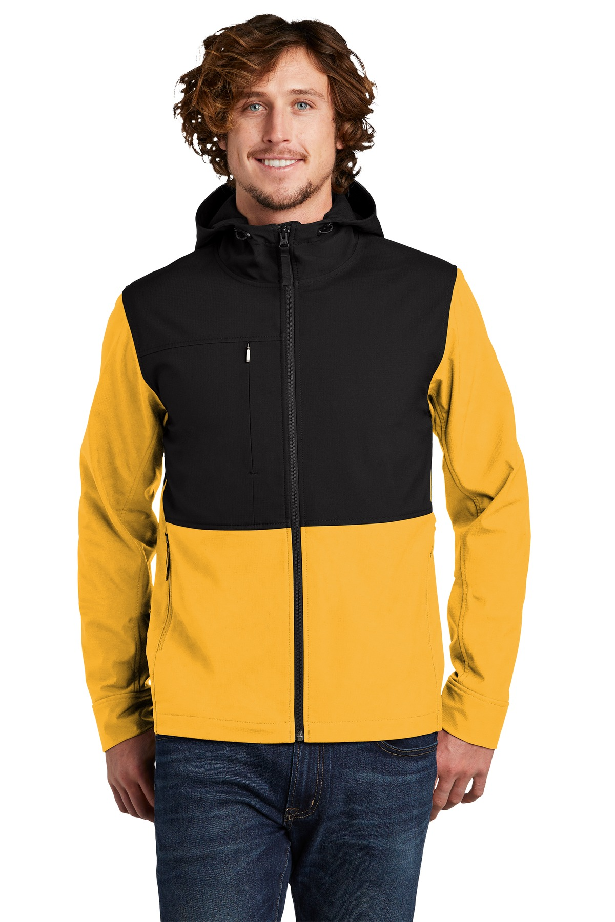 The North Face  ®  Castle Rock Hooded Soft Shell Jacket. NF0A529R - TNF Yellow