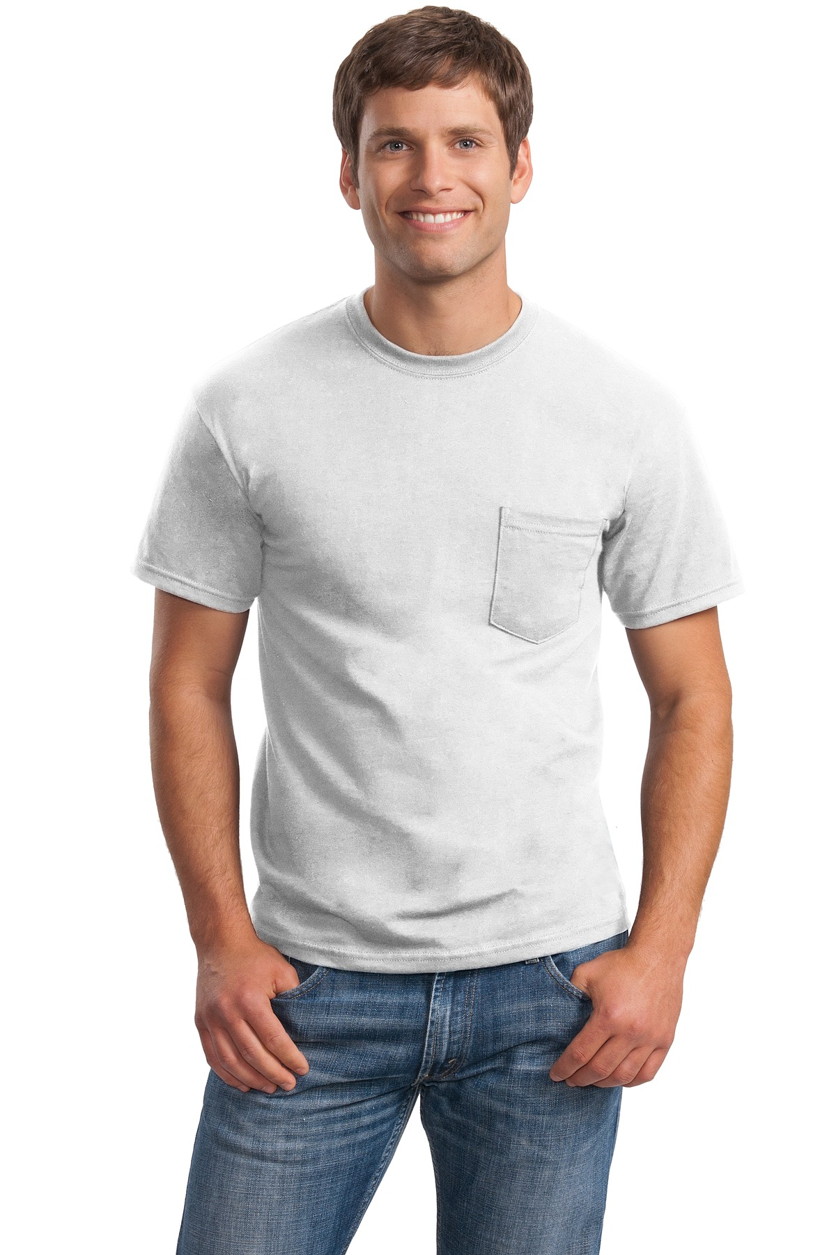 Gildan ®  - Ultra Cotton ®  100% Cotton T-Shirt with Pocket.  2300 - White