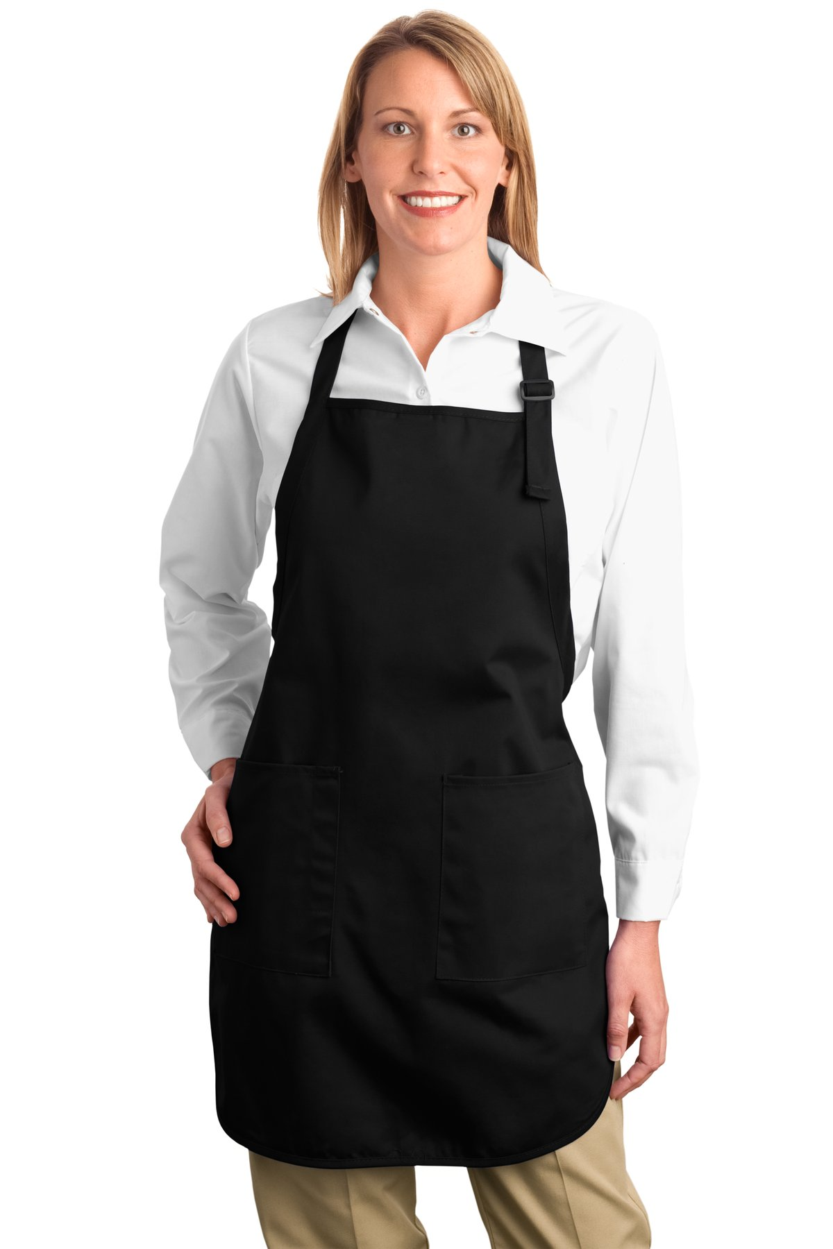 Port Authority ®  Full-Length Apron with Pockets.  A500 - Black