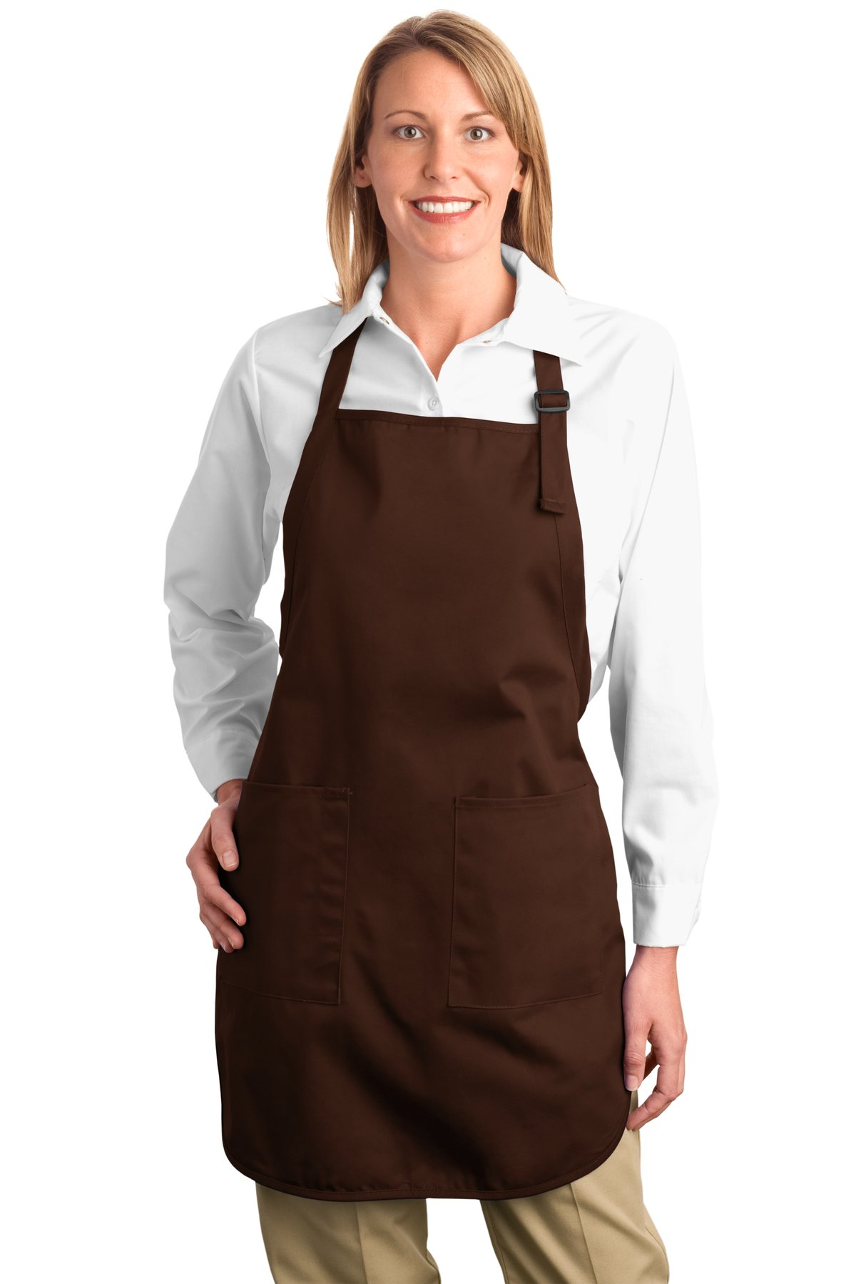 Port Authority ®  Full-Length Apron with Pockets.  A500 - Coffee Bean