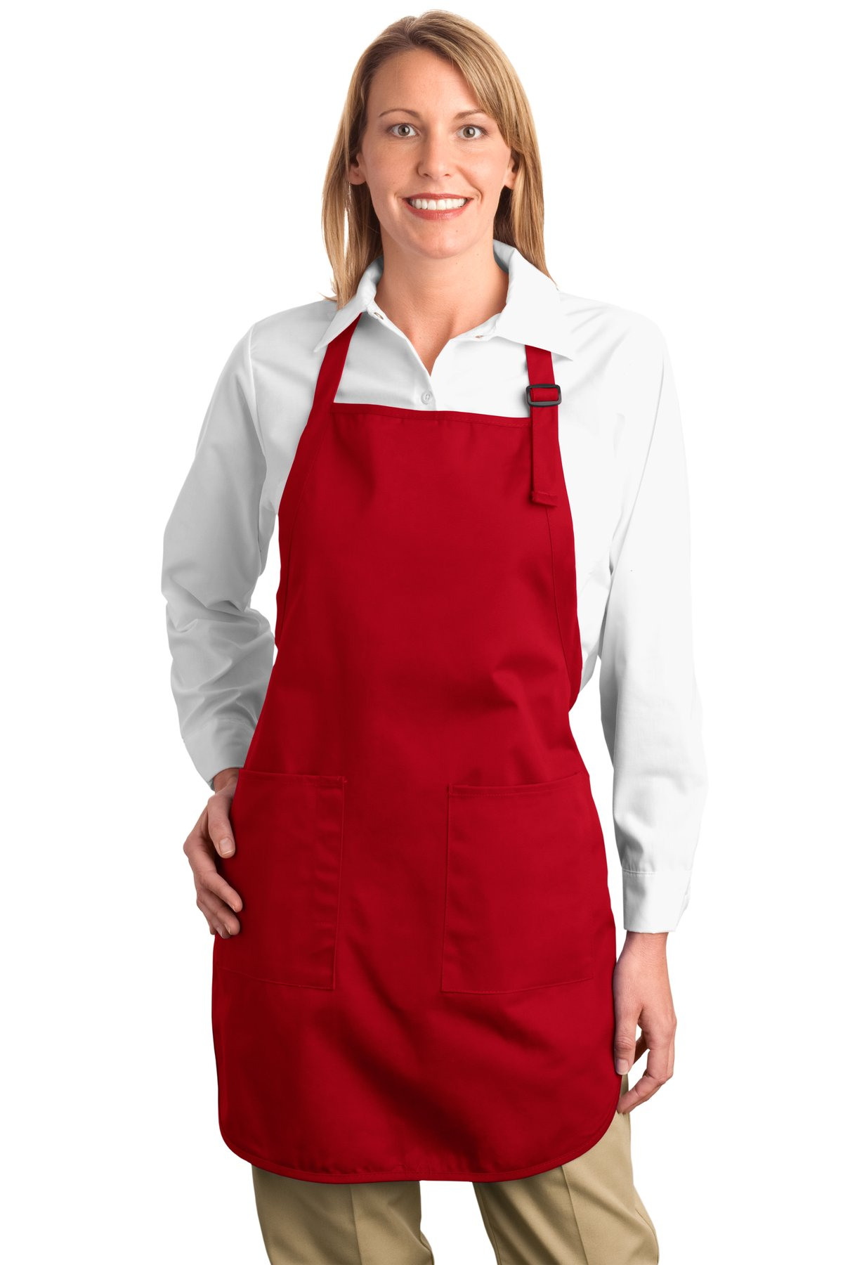 Port Authority ®  Full-Length Apron with Pockets.  A500 - Red